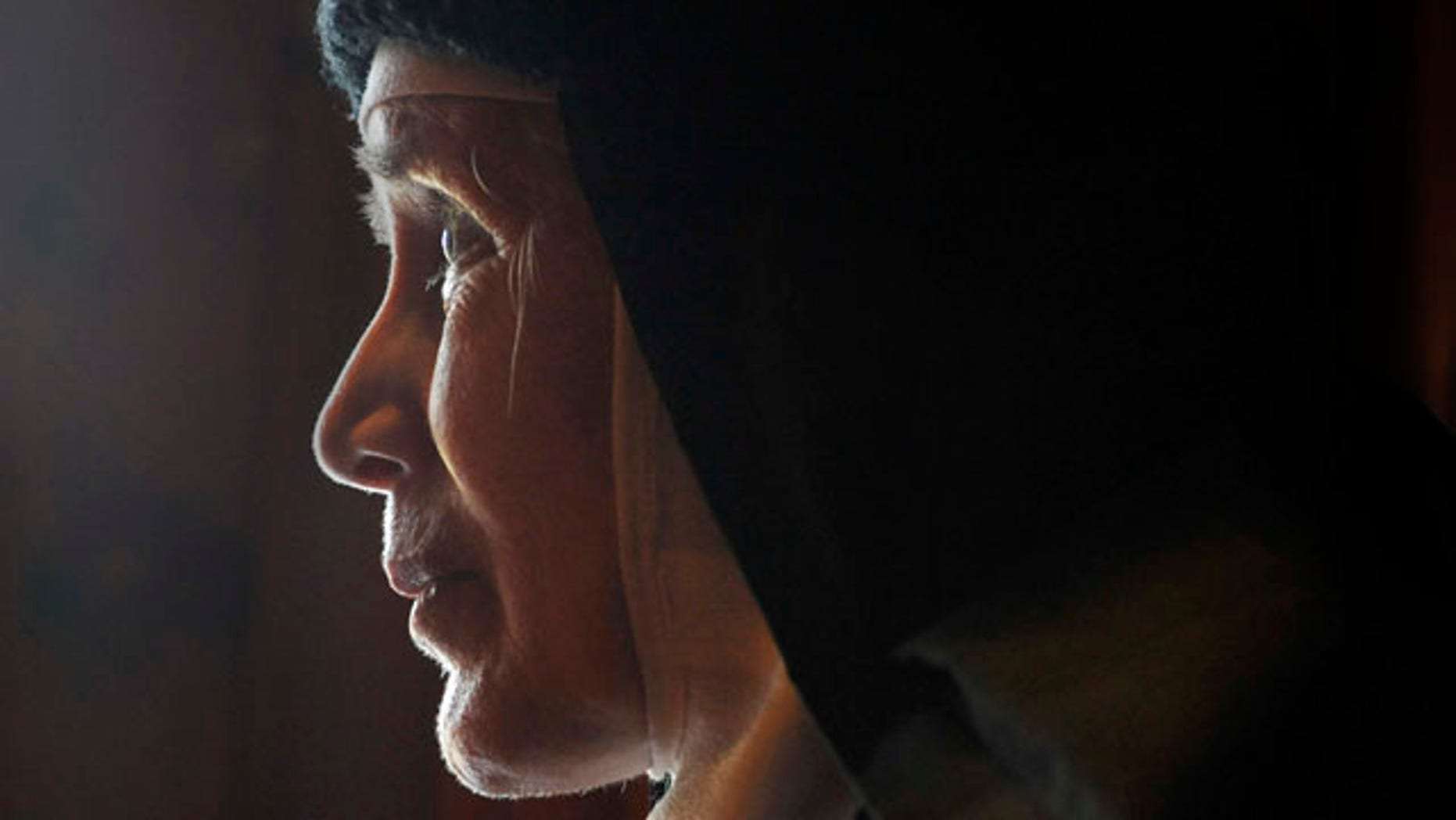 Dec. 22, 2011: Mother Dolores Hart is interviewed inside the Abbey of Regina Laudis monastery in Bethlehem, Conn.
