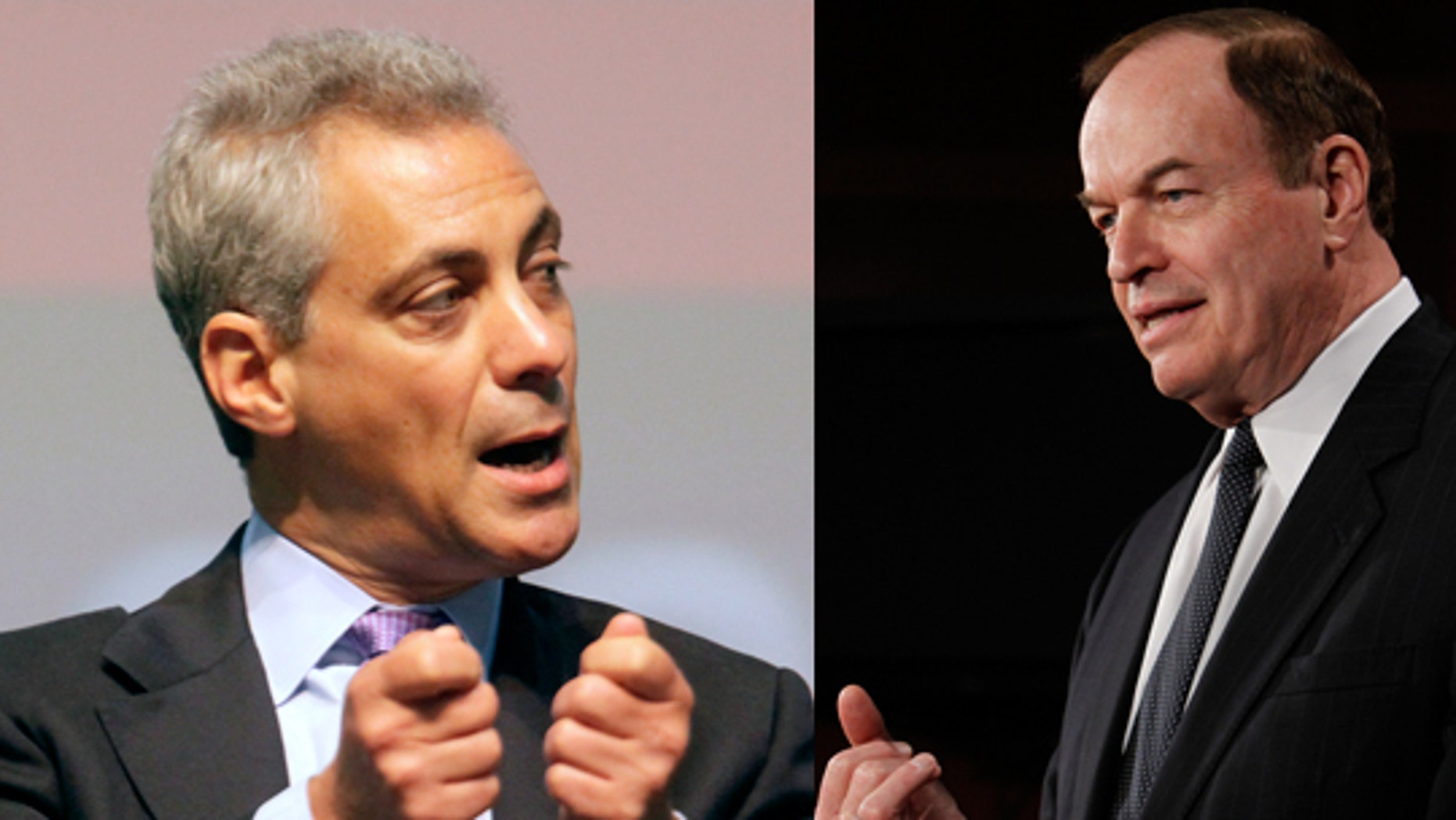 White House Chief of Staff Rahm Emanuel, (l), and Sen. Richard Shelby, R-Ala.,  (r),  ripped BP chief executive Tony Hayward for taking time off Saturday to attend a glitzy yacht race around England's Isle of Wight. (AP)