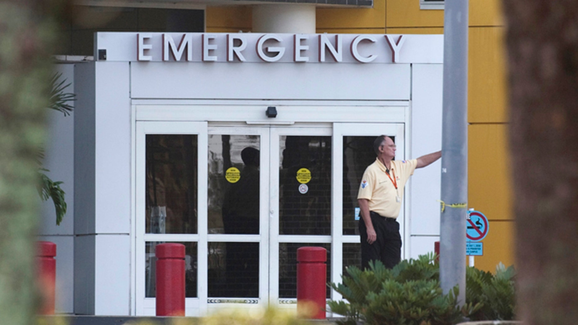 FILE: December 8, 2009: A man stands outside the emergency room of Health Central Hospital, in Occoee, Florida.
