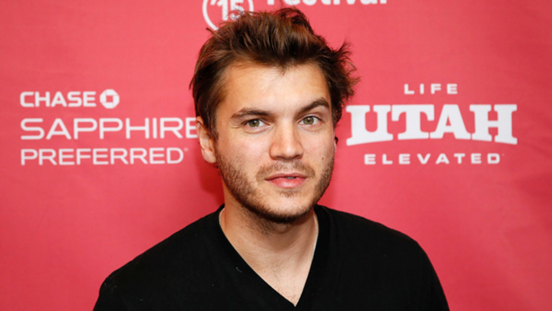 """Jan. 23, 2015: Actor Emile Hirsch poses at the premiere of """"Ten Thousand Saints"""" during the 2015 Sundance Film Festival in Park City, Utah."""