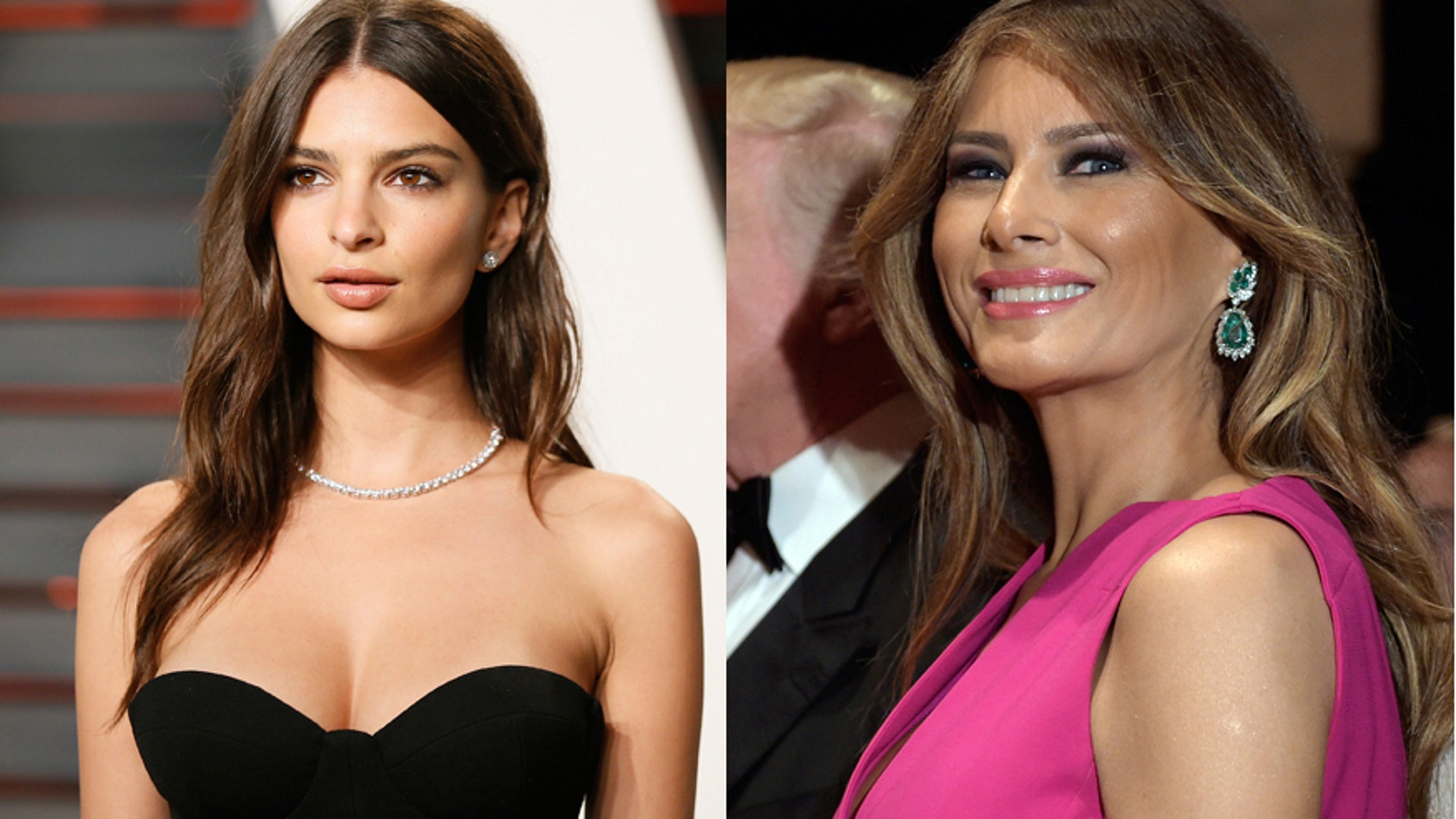 Model Emily Ratajkowski (left) and First Lady Melania Trump.