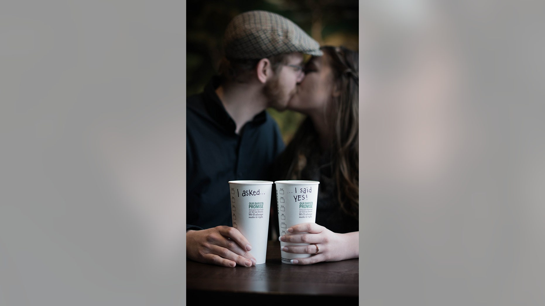 """""""This Starbucks is special to us because it changed our lives,"""" bride-to-be Emily McMahan said."""