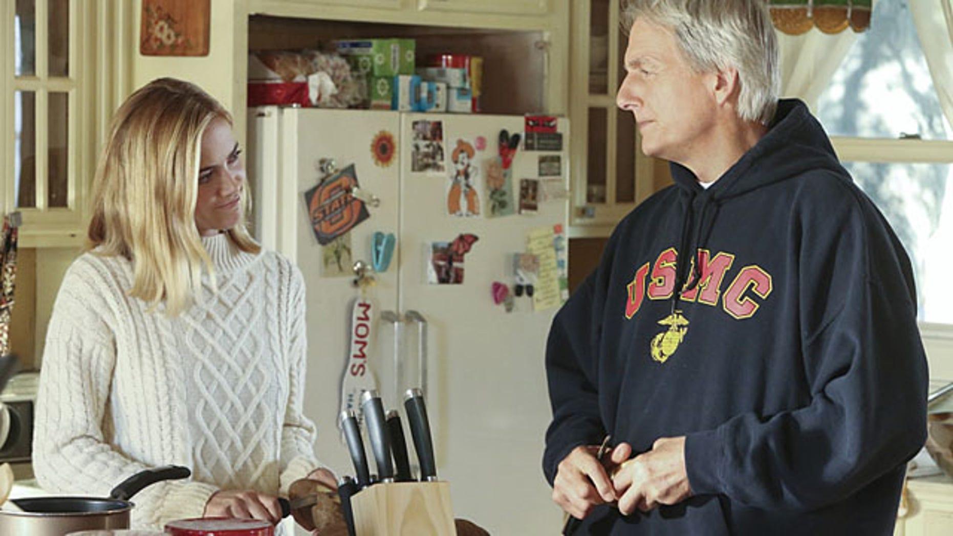 Emily Wickersham and Mark Harmon as Bishop and Gibbs on 'NCIS' (Patrick McElhenney/CBS)