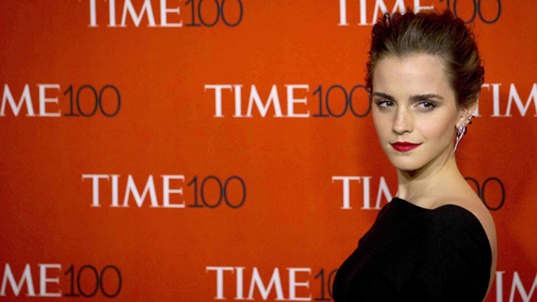 April 21, 2015. Actress Emma Watson arrives for the TIME 100 Gala in New York.