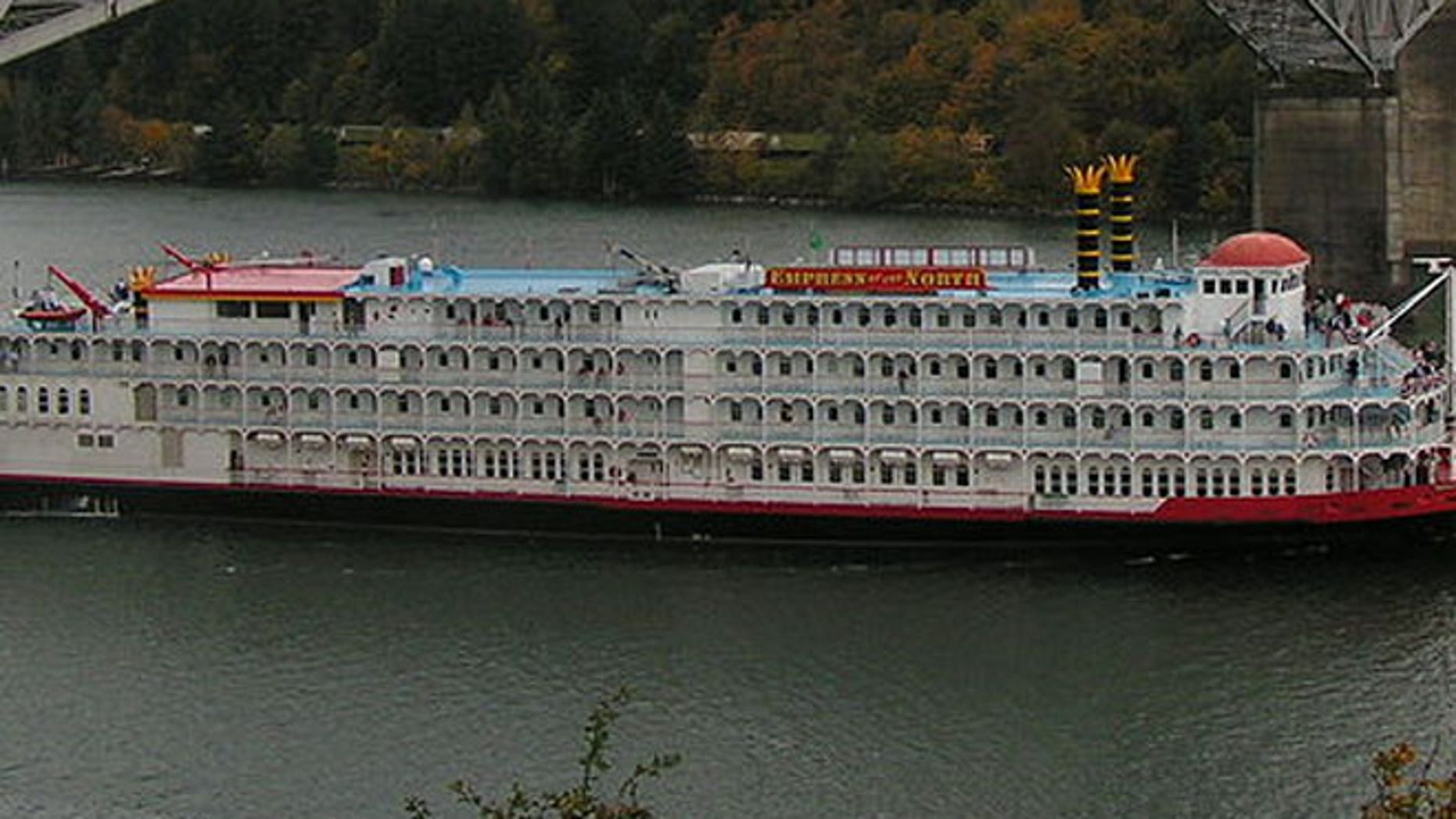 The formerly-named Empress of the North on the Columbia River.