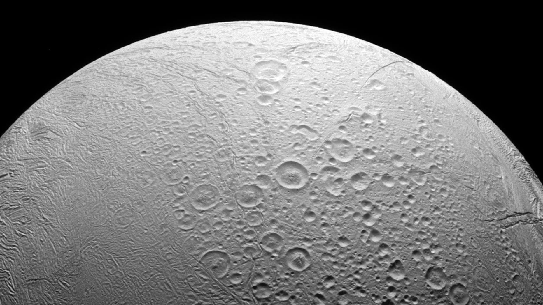 File photo: Saturn's ocean-bearing moon Enceladus taken in visible light with the Cassini spacecraft narrow-angle camera on Nov. 27, 2016. NASA/JPL-Caltech/Space Science Institute/Handout via REUTERS