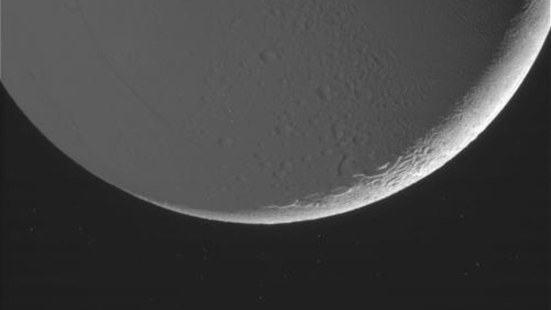 Image of Enceladus taken on Oct. 14, 2015 and received on Earth Oct. 15, 2015. (Image Credit: NASA/JPL-Caltech/Space Science Institute)