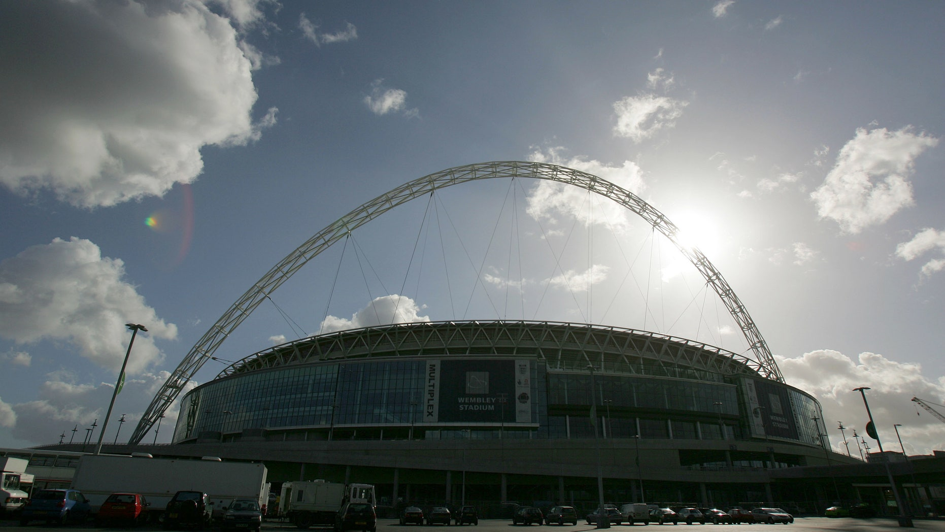 Wembley Stadium, the home of English soccer.