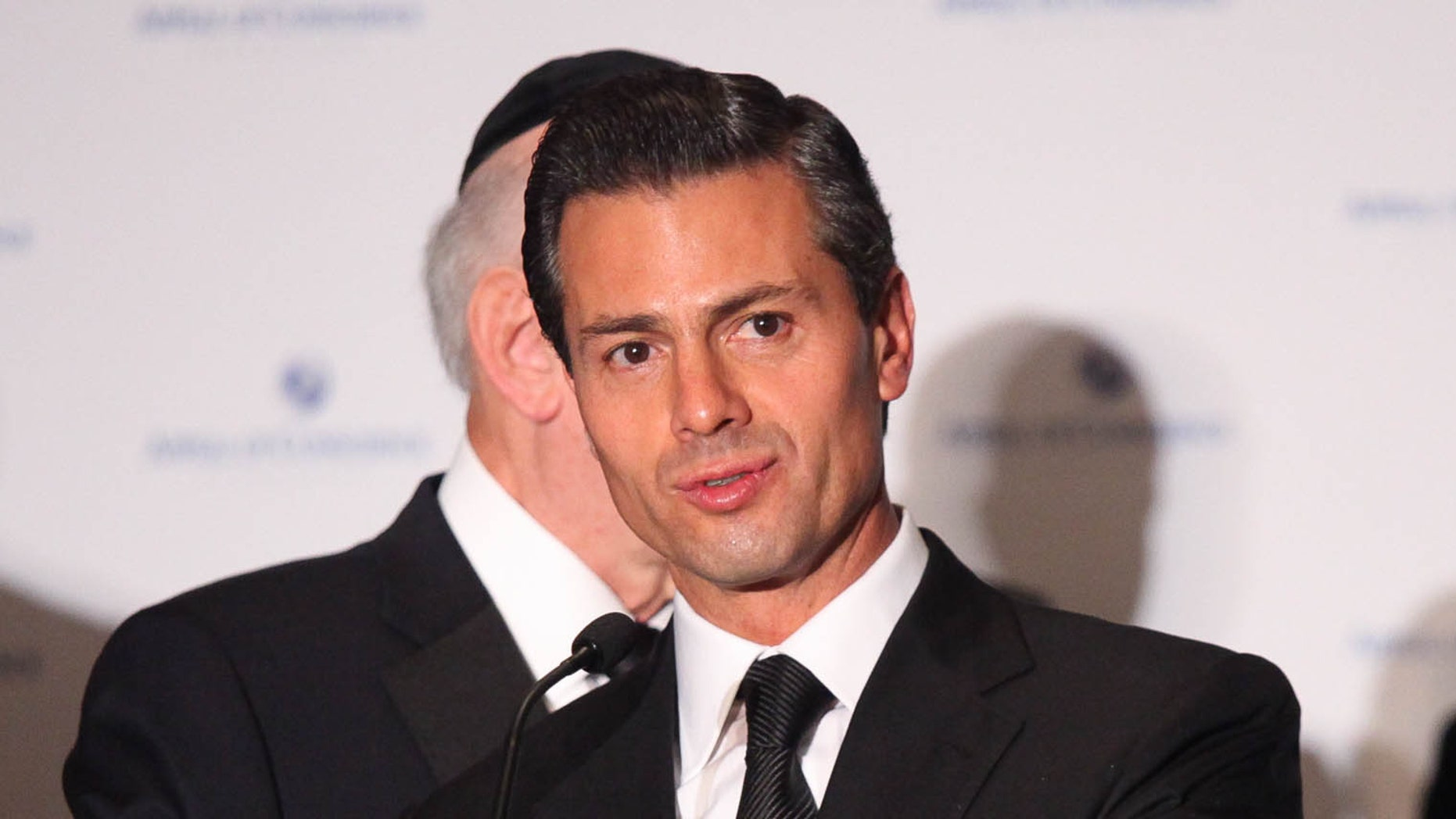 NEW YORK, NY - SEPTEMBER 23:  Mexican President Enrique Pena Nieto attends 2014 Appeal of Conscience Foundation Awards at The Waldorf=Astoria on September 23, 2014 in New York City.  (Photo by Rob Kim/Getty Images)