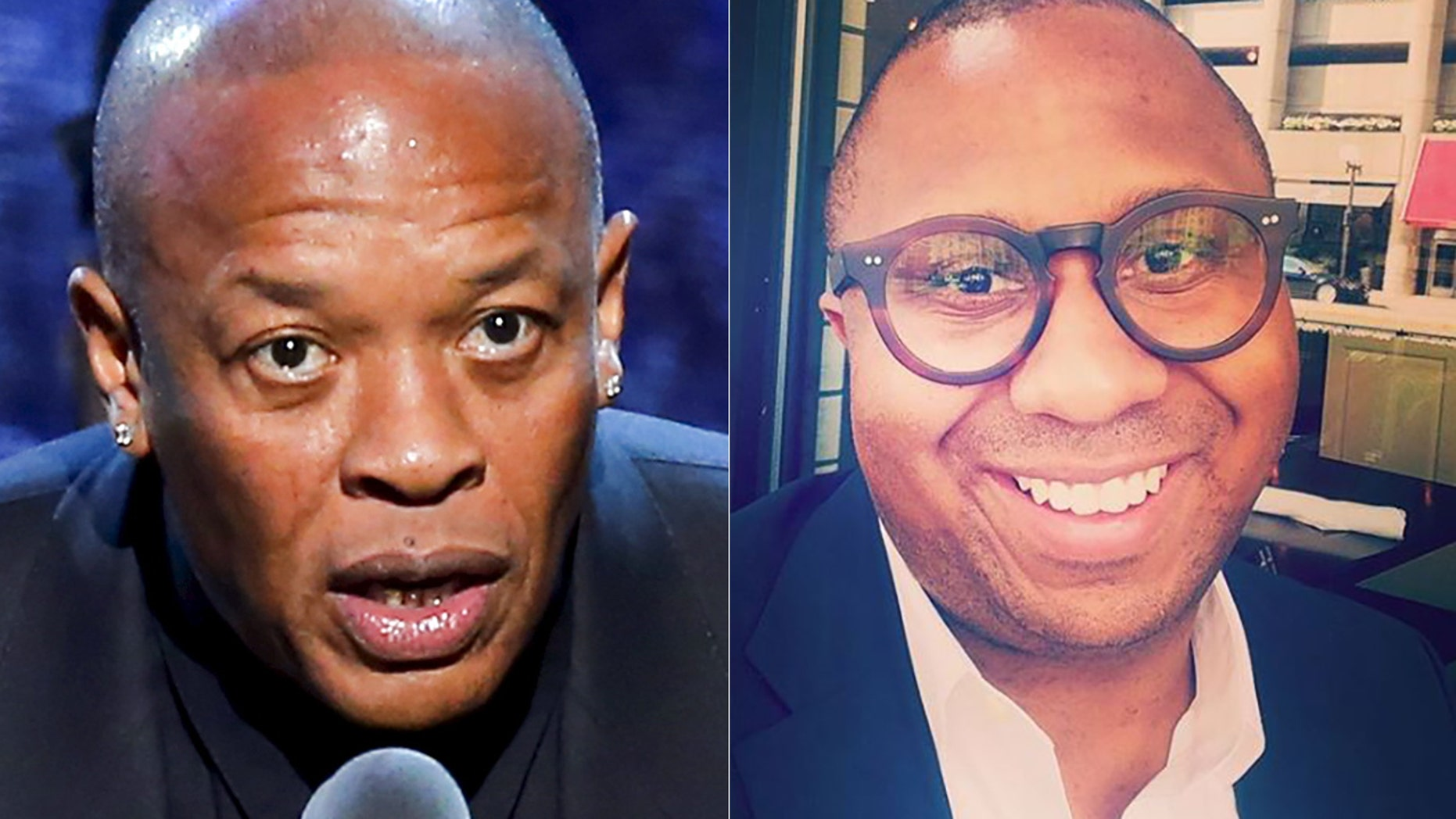 Dr. Dre, left, lost a trademark battle with a gynecologist who calls himself Dr. Drai.