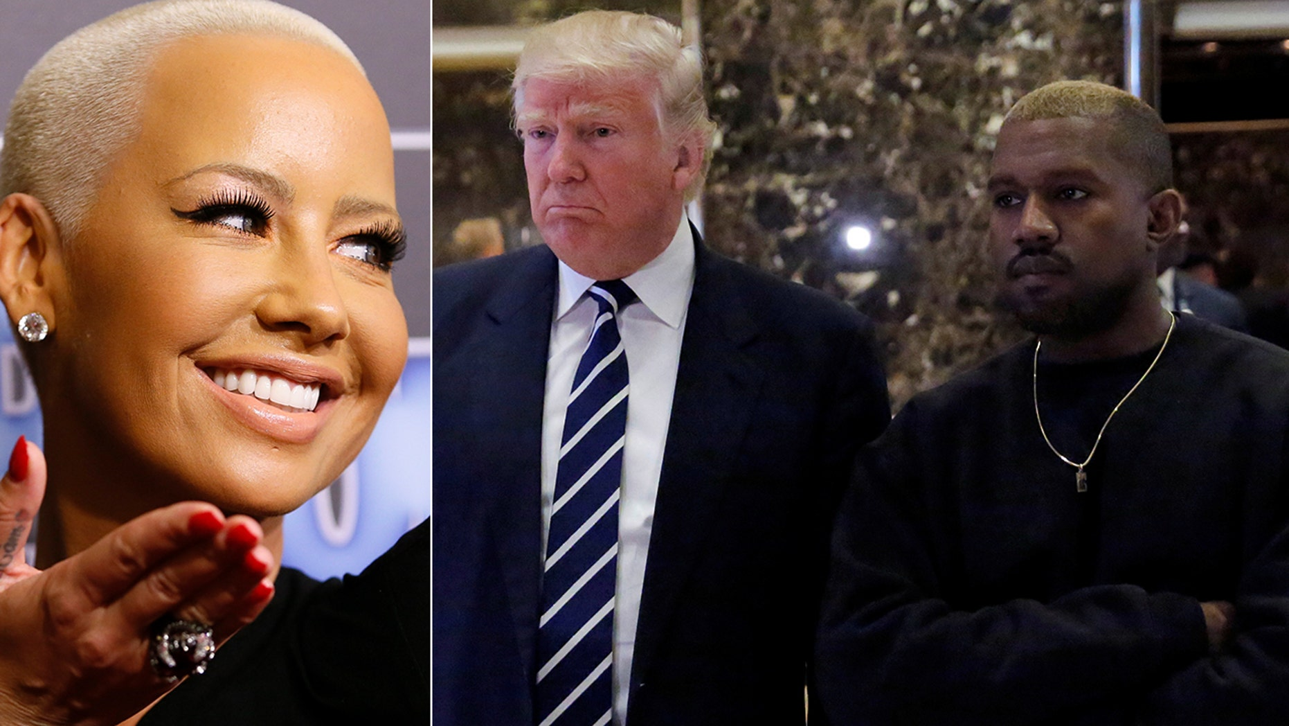 Amber Rose weighed in on Kanye West's support of President Trump.