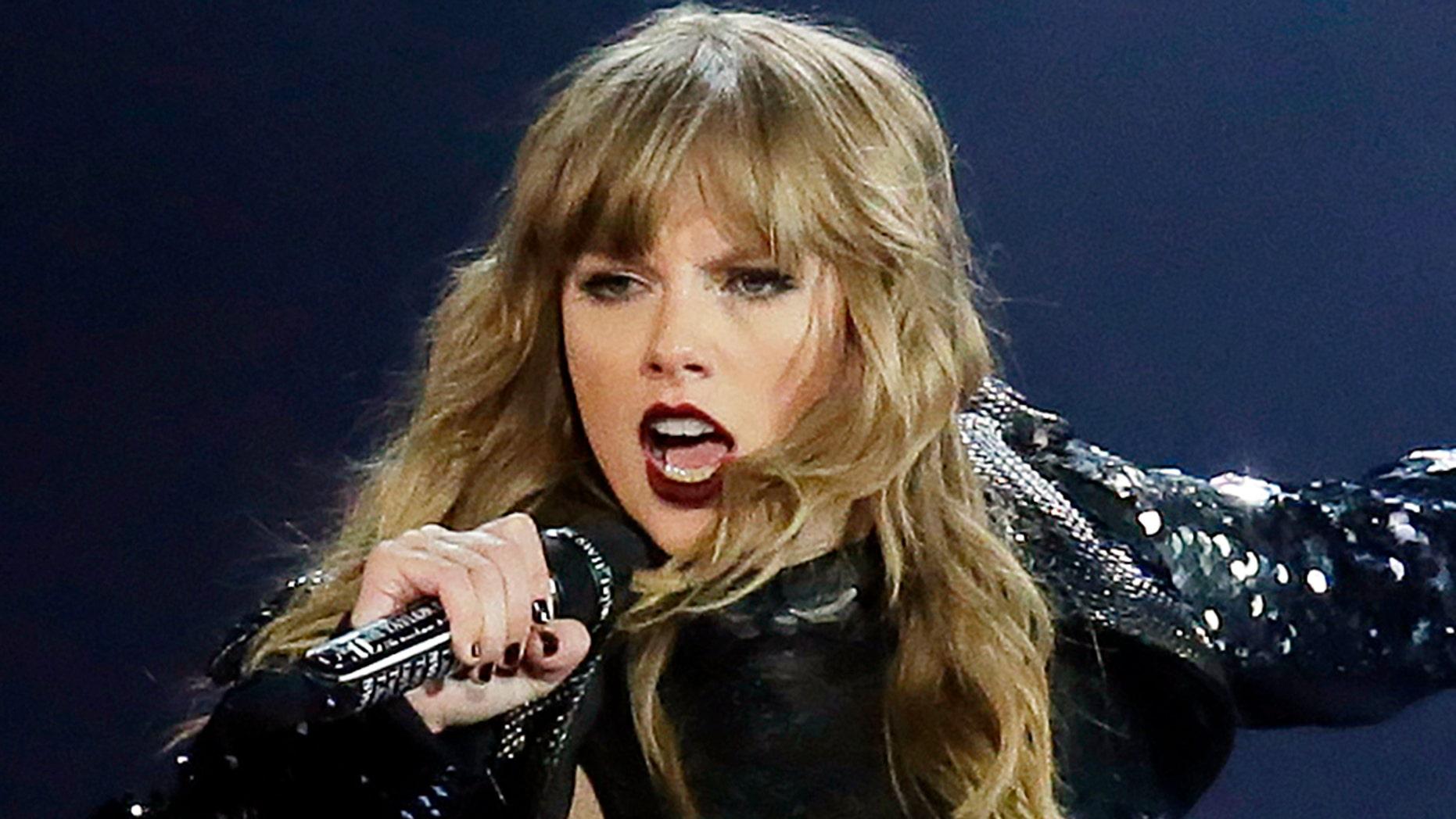 Taylor Swift performs during the Reputation Tour opener at University of Phoenix Stadium in Glendale, Arizona.