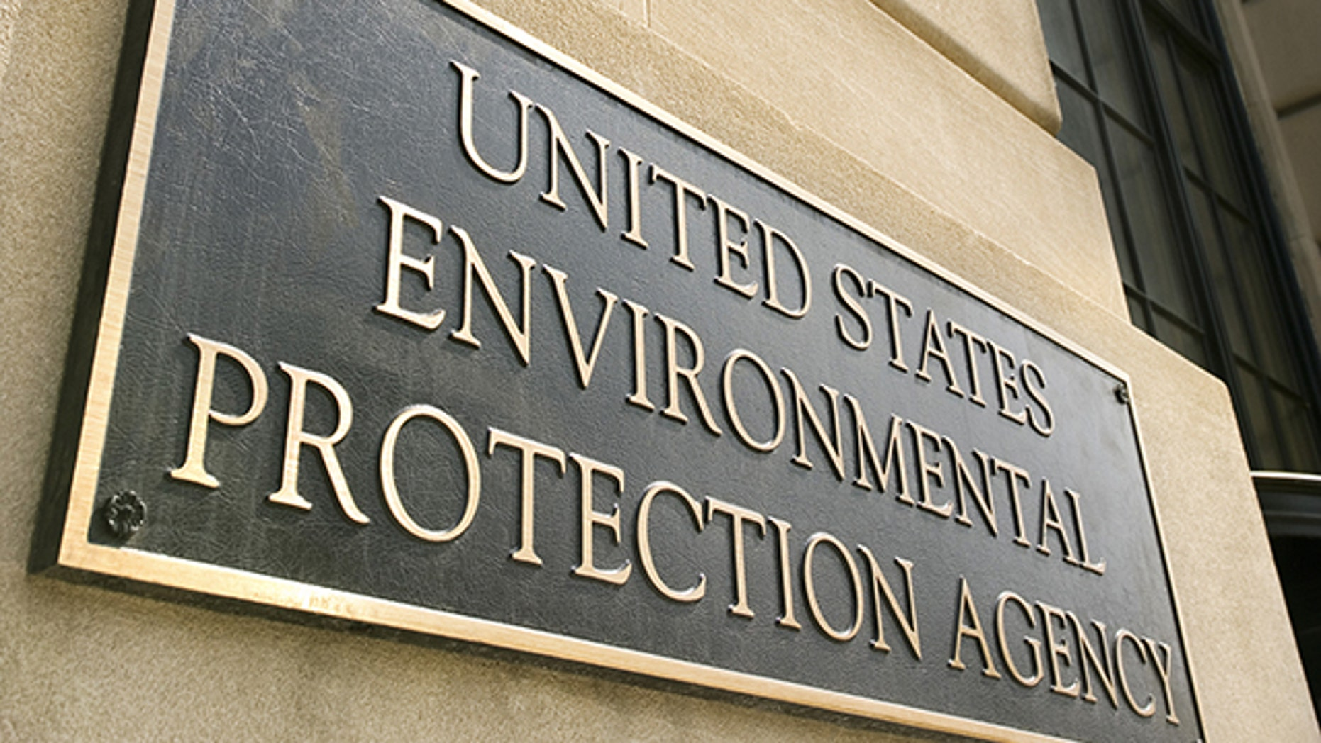 This undated file photo shows the Environmental Protection Agency sign.