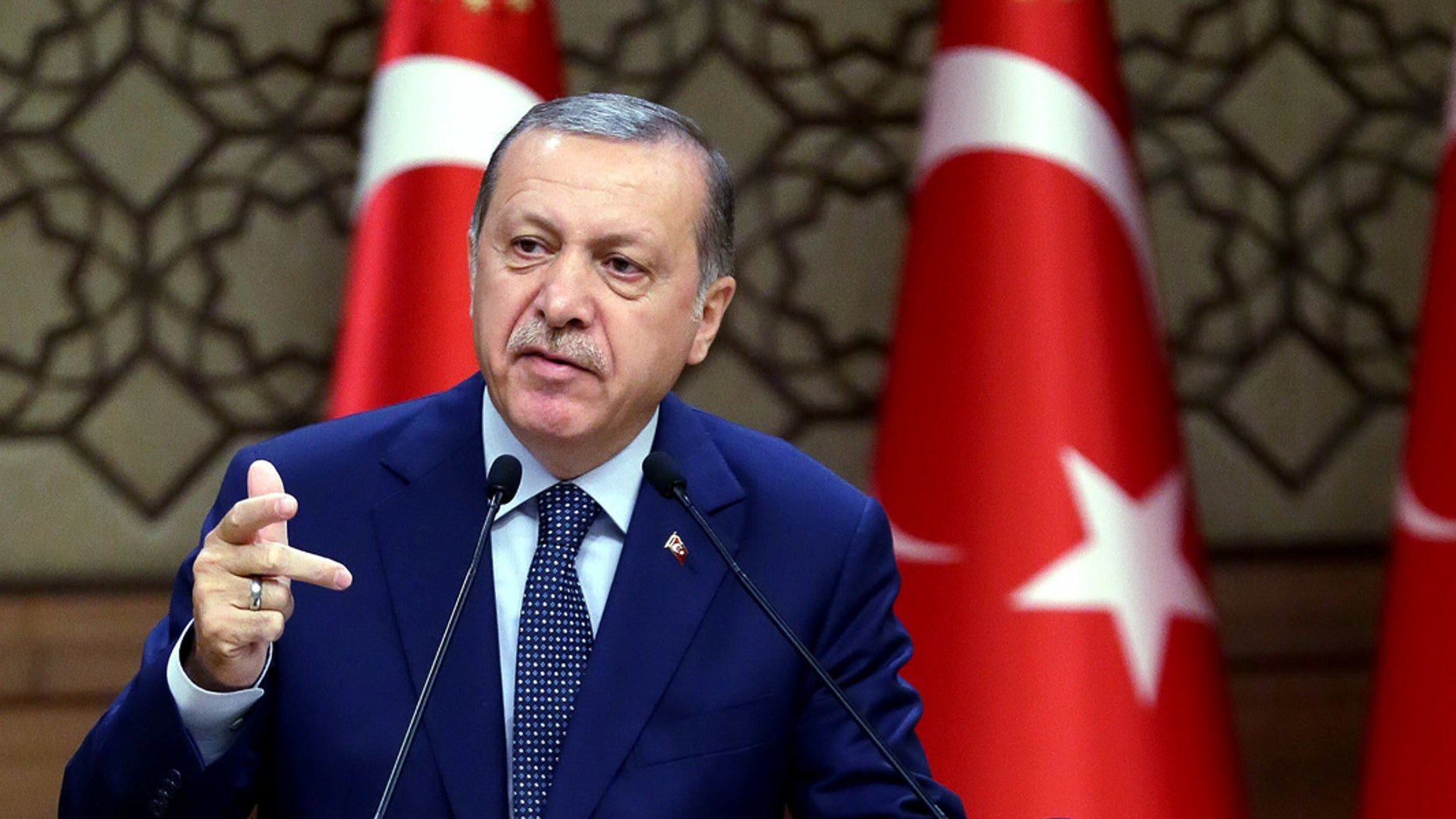 Erdogan is targeting both ISIS and the Kurds.
