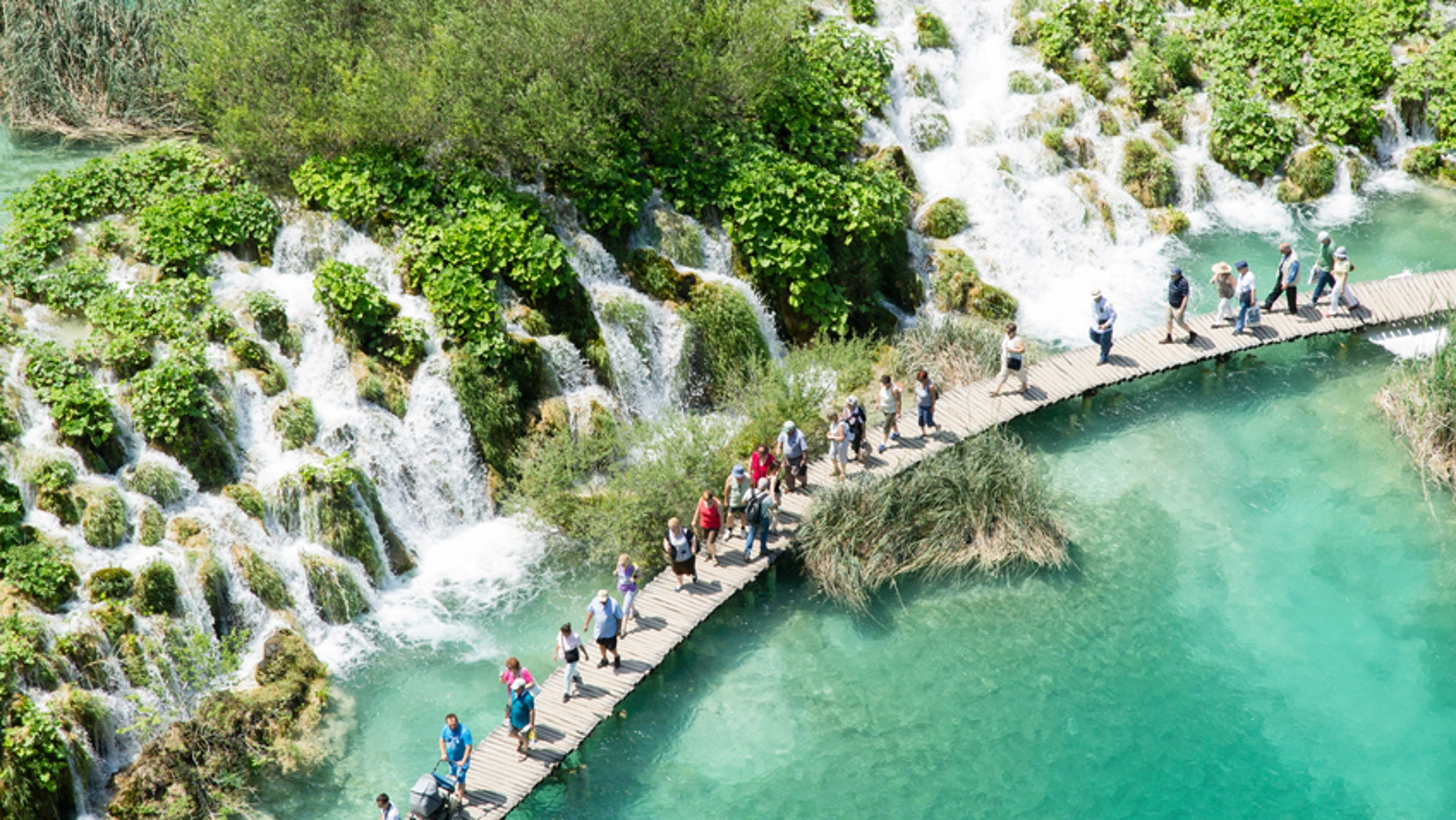 Plitvice Lakes National Park in Croatia has seen a surge in visitors in recent years.