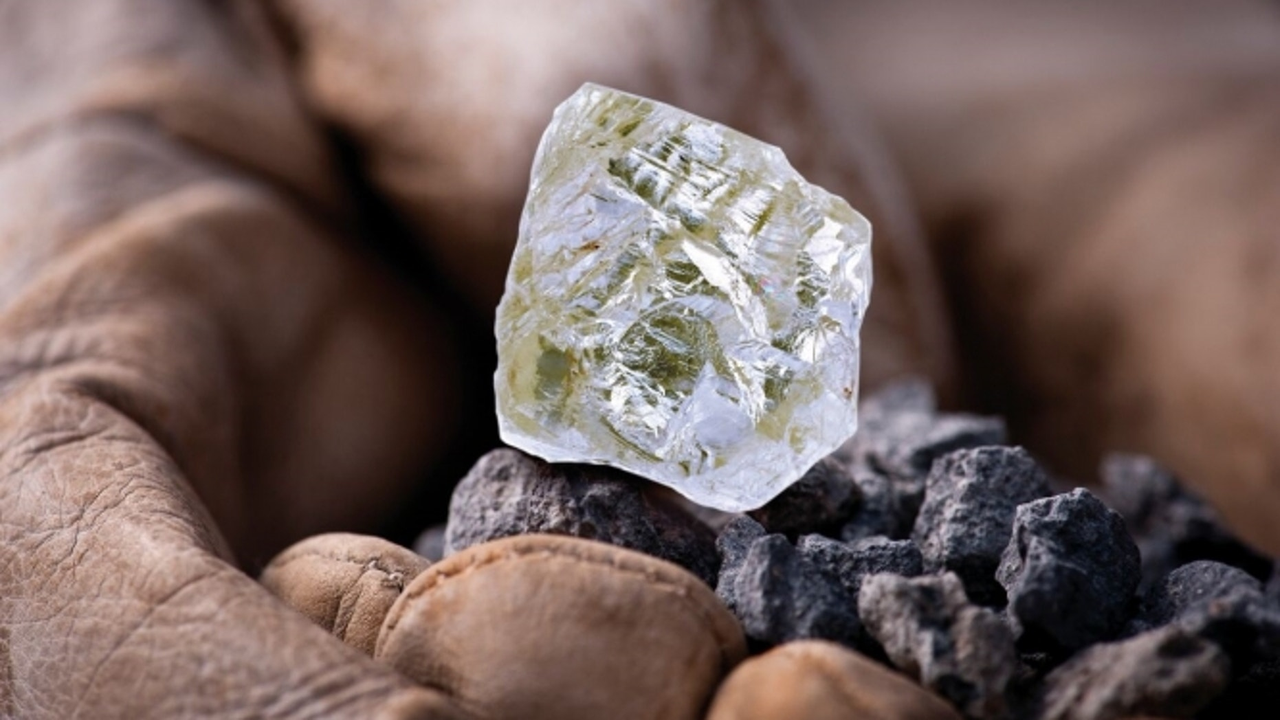 The Foxfire diamond is the largest known uncut, gem-quality diamond mined in North America.