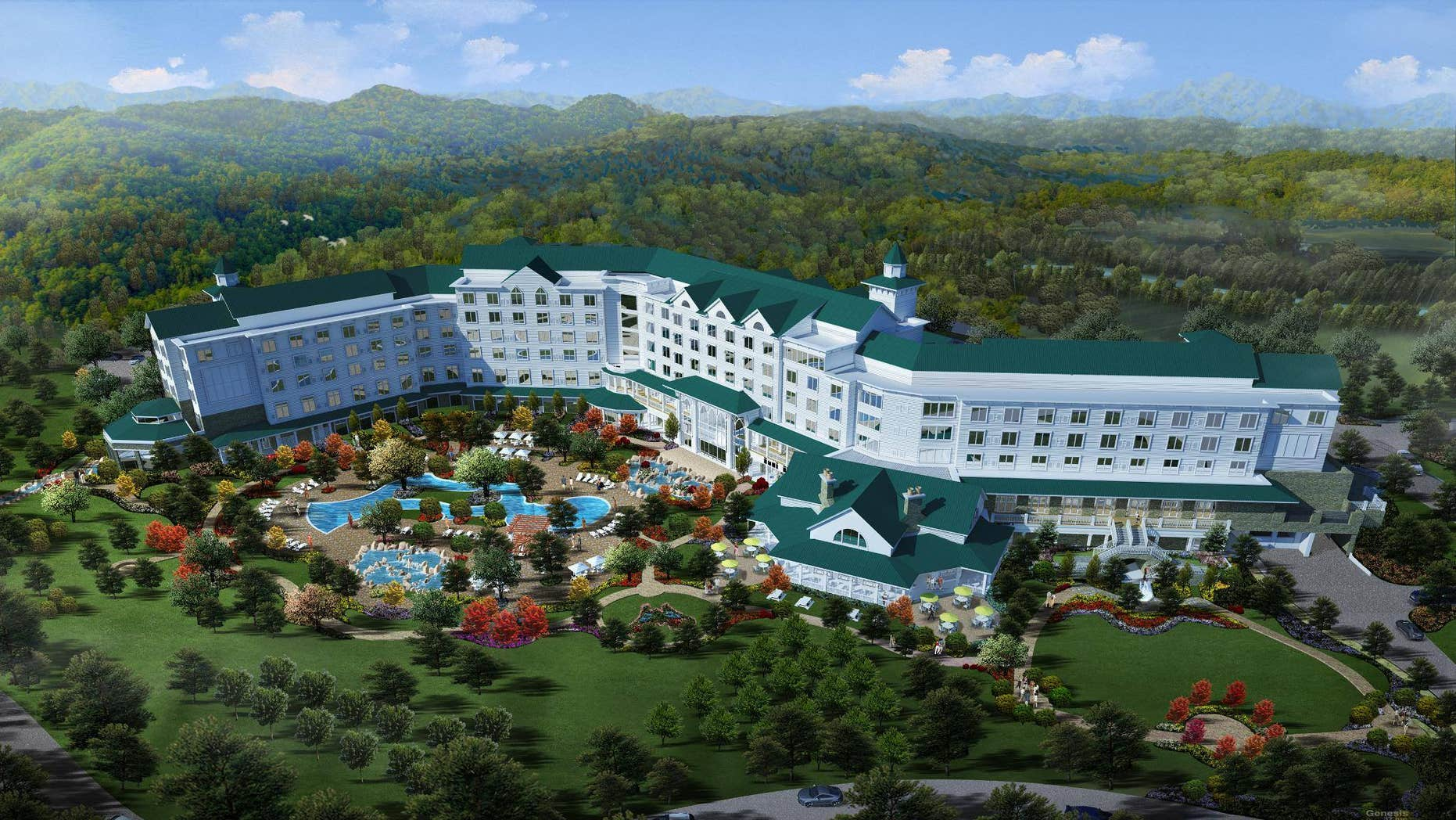 A digital rendering of Dollywood's DreamMore Resort.