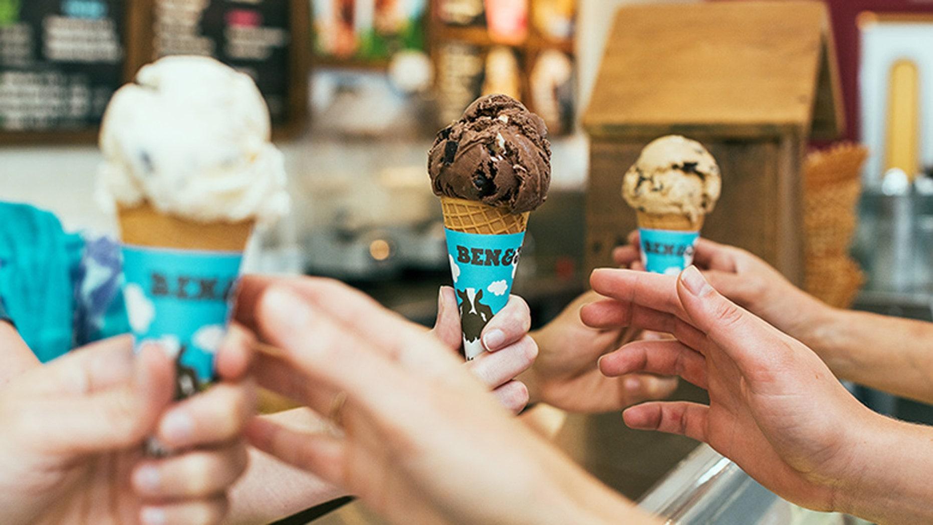 Ice cream dreams come true today.