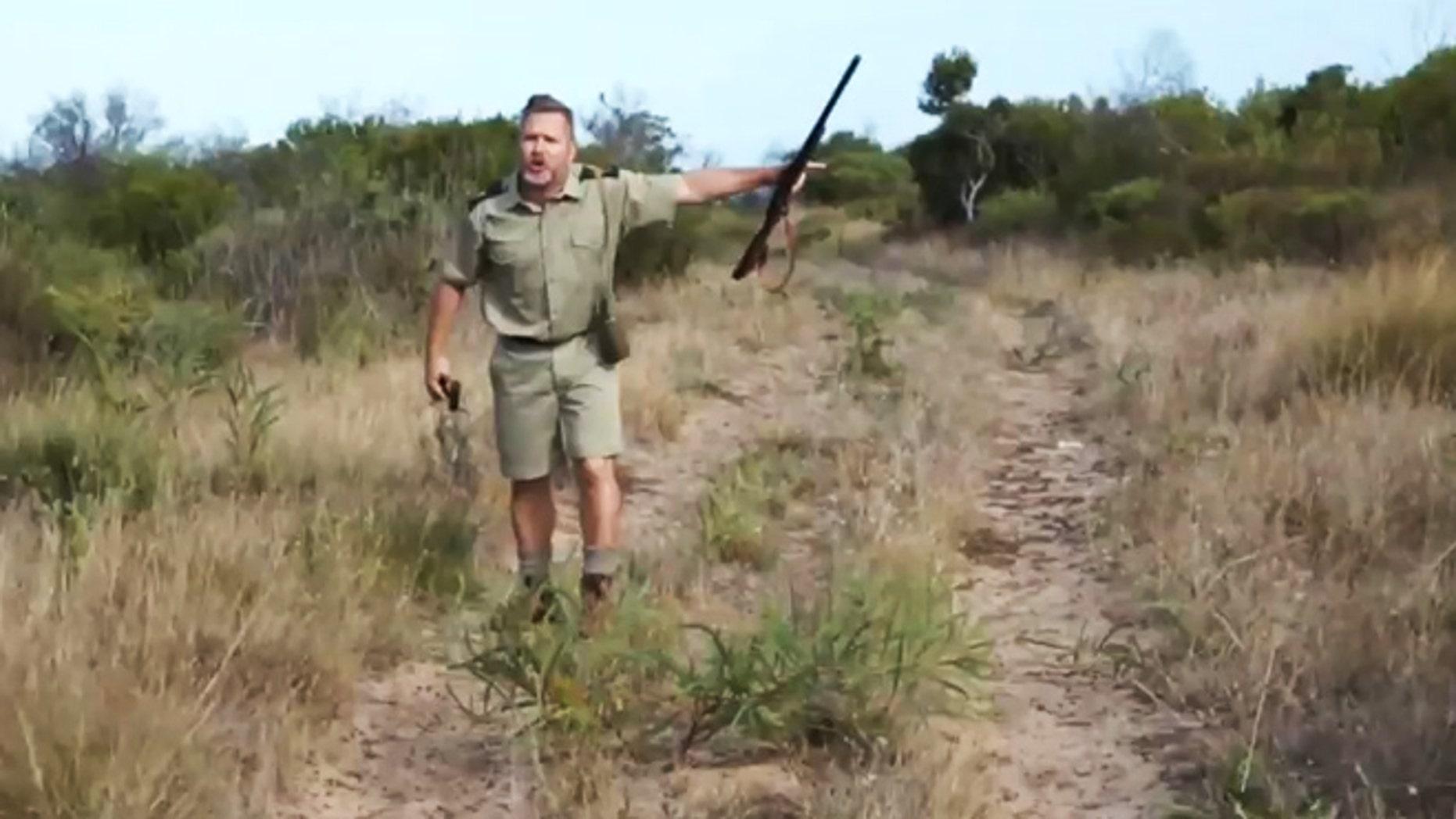 A safari park ranger is understandably upset when a tourist goes rogue.