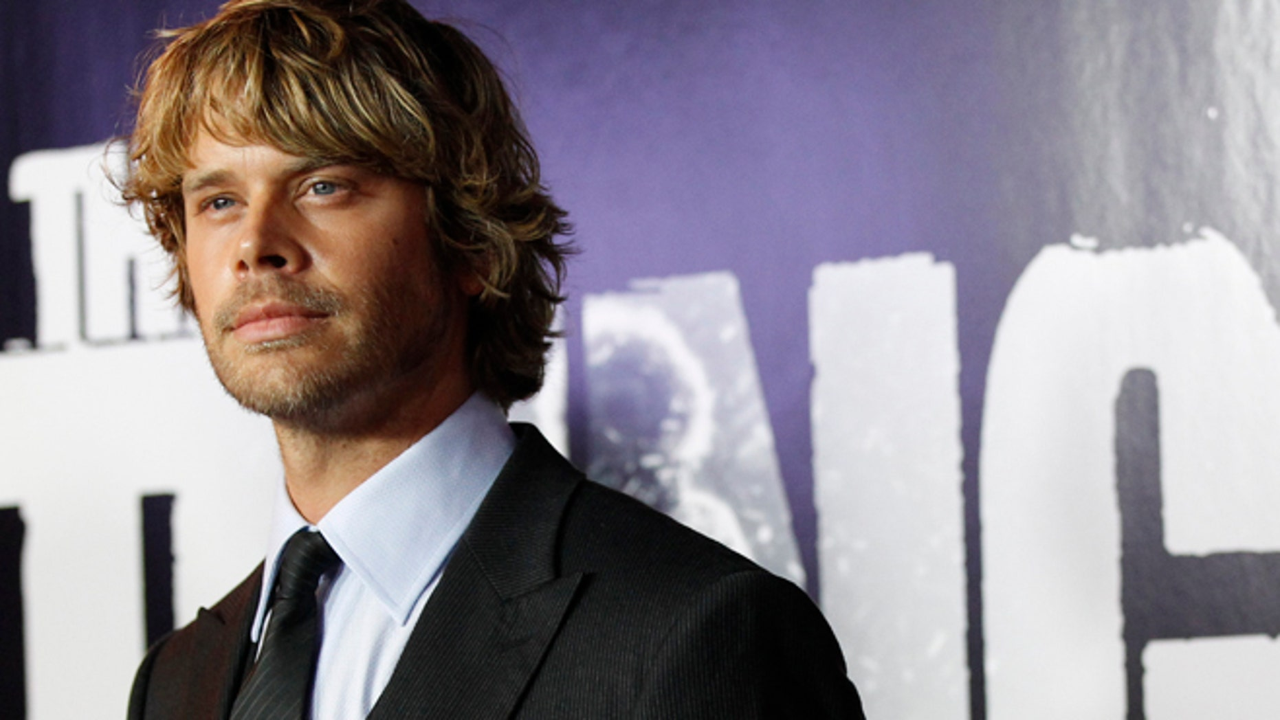 """Cast member Eric Christian Olsen poses at the world premiere of """"The Thing"""" at Universal Studios Hollywood in Universal City, California October 10, 2011."""