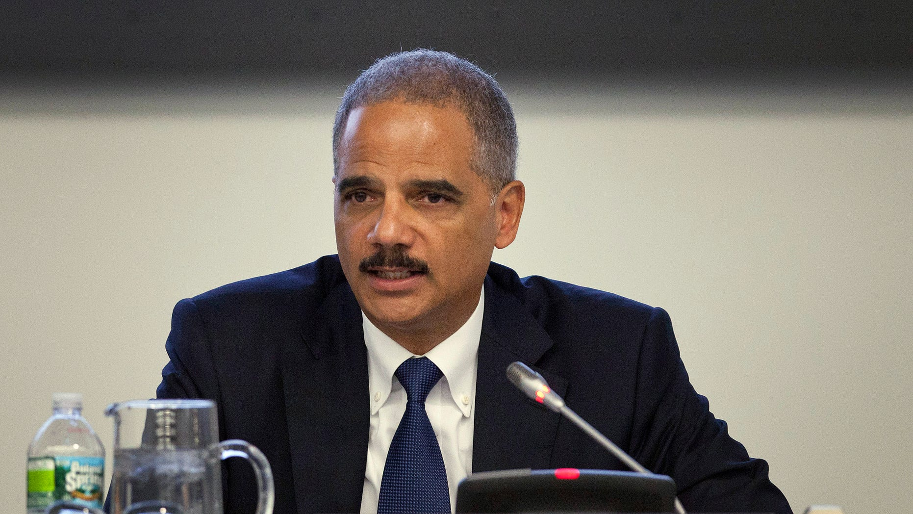 U.S. Attorney General Eric Holder speaks during the Secretary-General's Symposium on International Counter-Terrorism Conference during the 66th session of the General Assembly at United Nations headquarters on Monday, Sept. 19, 2011.