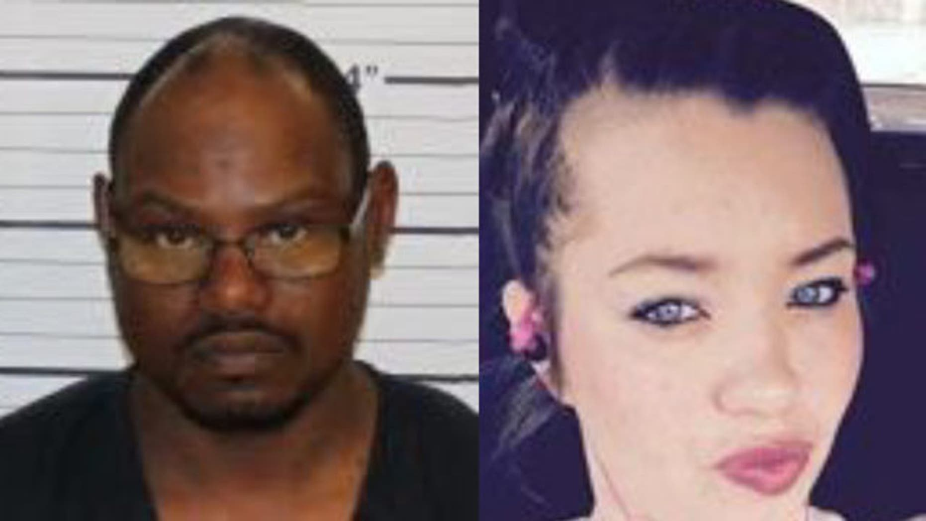 Eric Wells, left, was arrested after allegedly kidnapping Taryn Webster, who remains missing as of Tuesday.