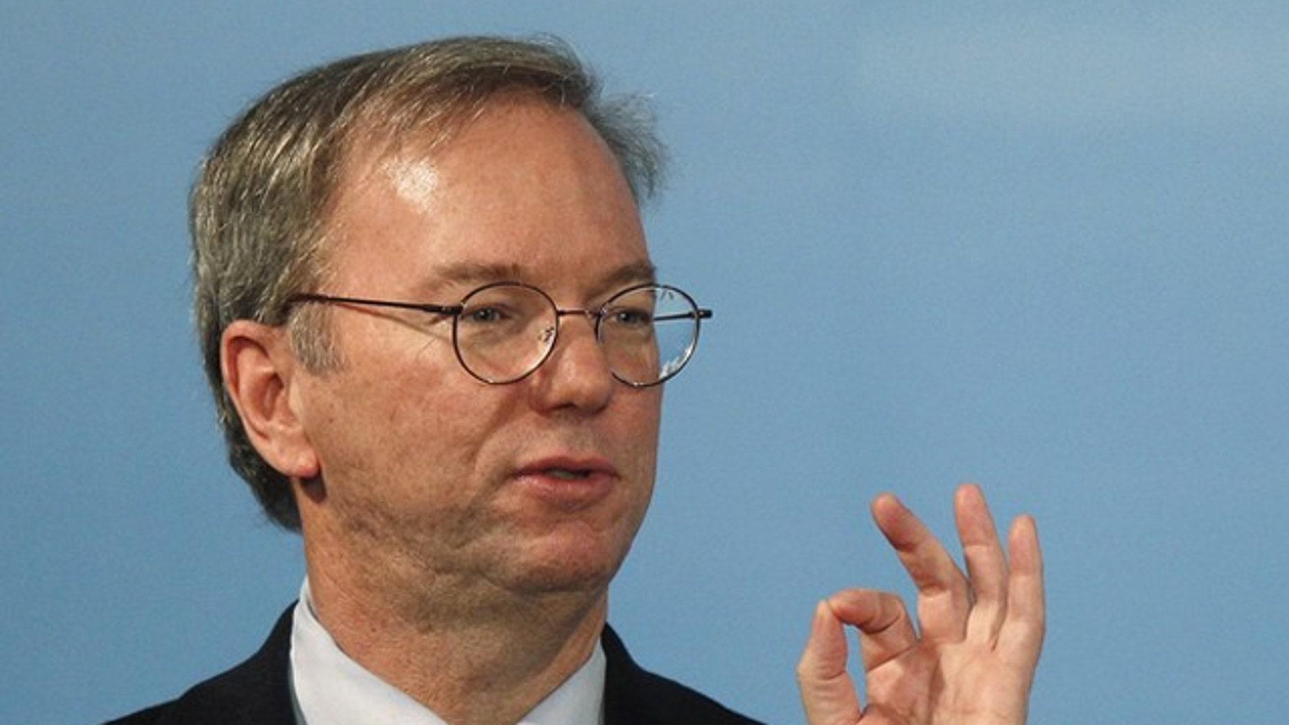 Chairman Eric Schmidt talks up a potential Google tablet.