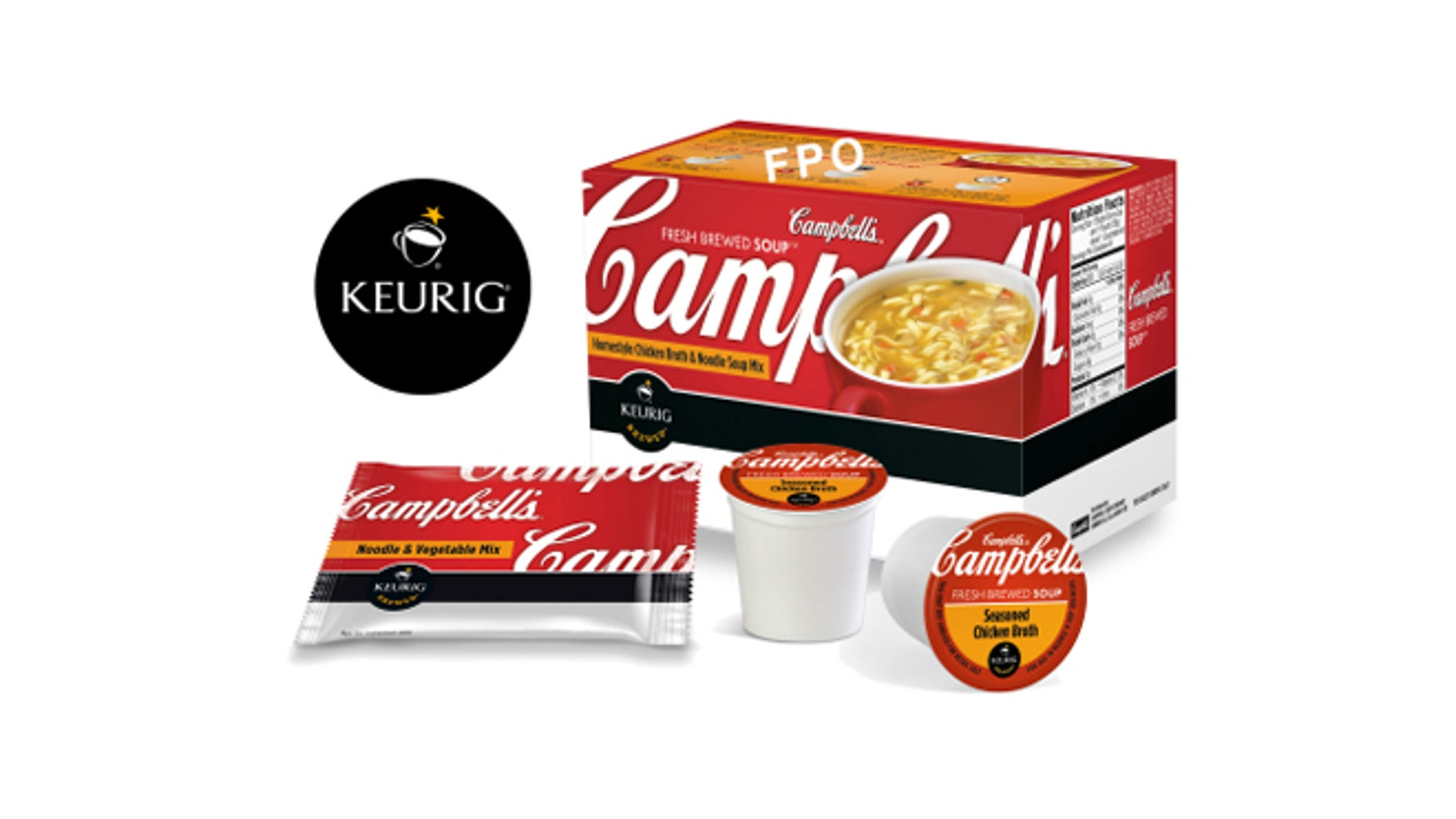 Campbell Soup Company and Green Mountain Coffee Roasters Inc. have teamed up for quick-serve soup pods.