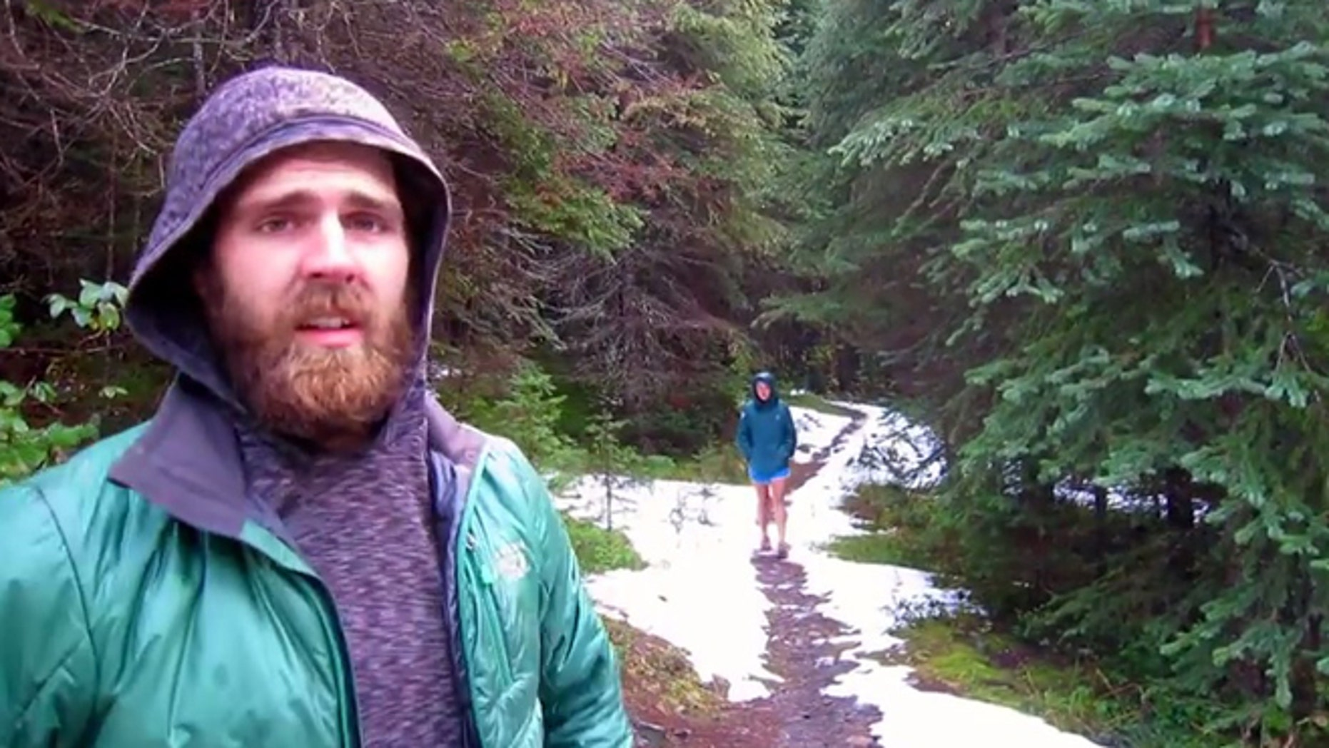 Mac completes his journey near the U.S.-Canadian border on the Pacific Crest Trail.