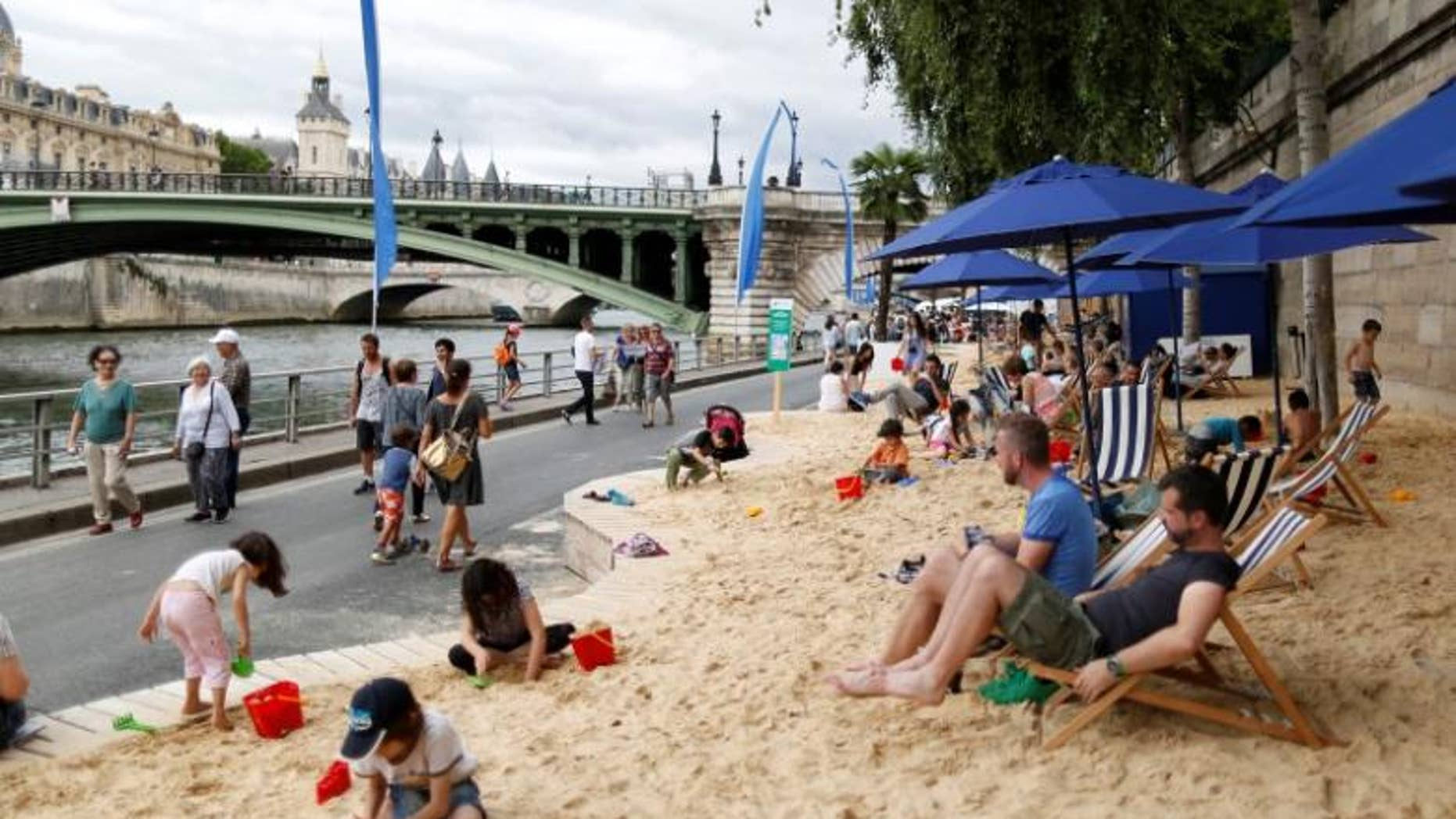 ''Paris Plages'' (Paris Beach) opened along the banks of River Seine in Paris, France last summer.