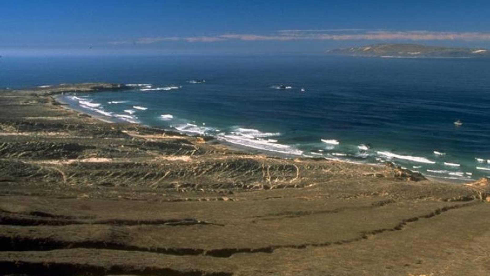Sandy Point is located on the far west end of Santa Rosa Island near Santa Barbara, Calif.