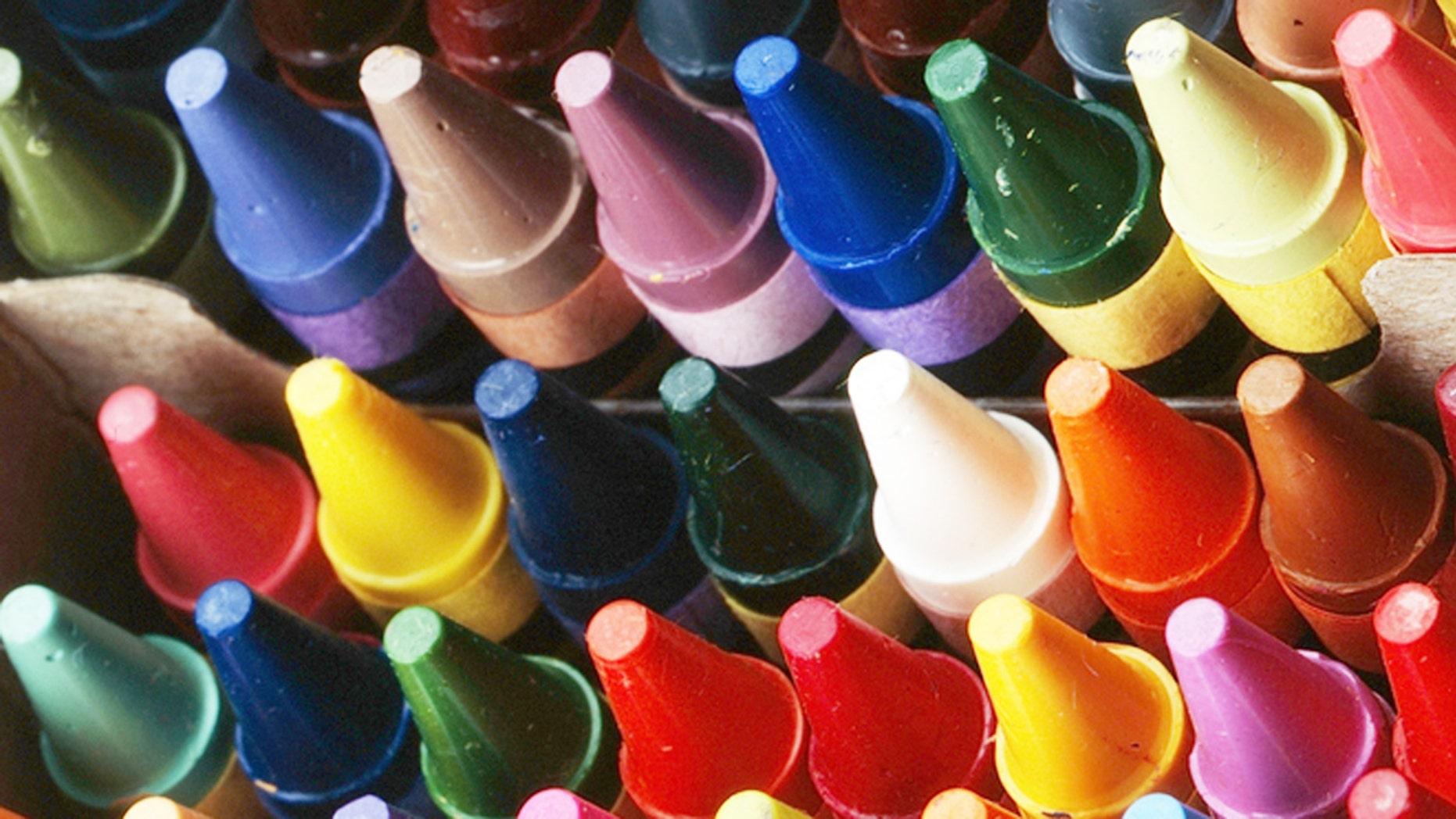 Crayola's new crayon is a brilliant blue.