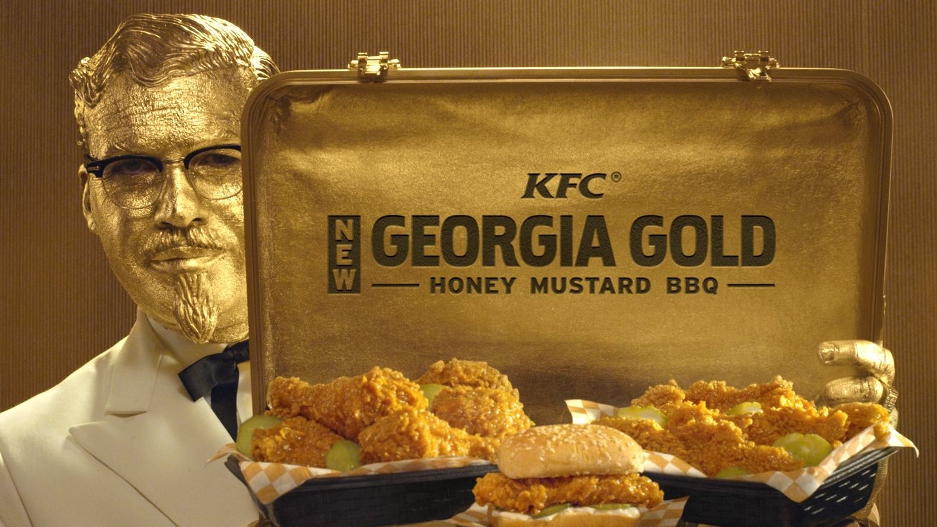 "When Colonel Sanders meets ""Goldfinger."""
