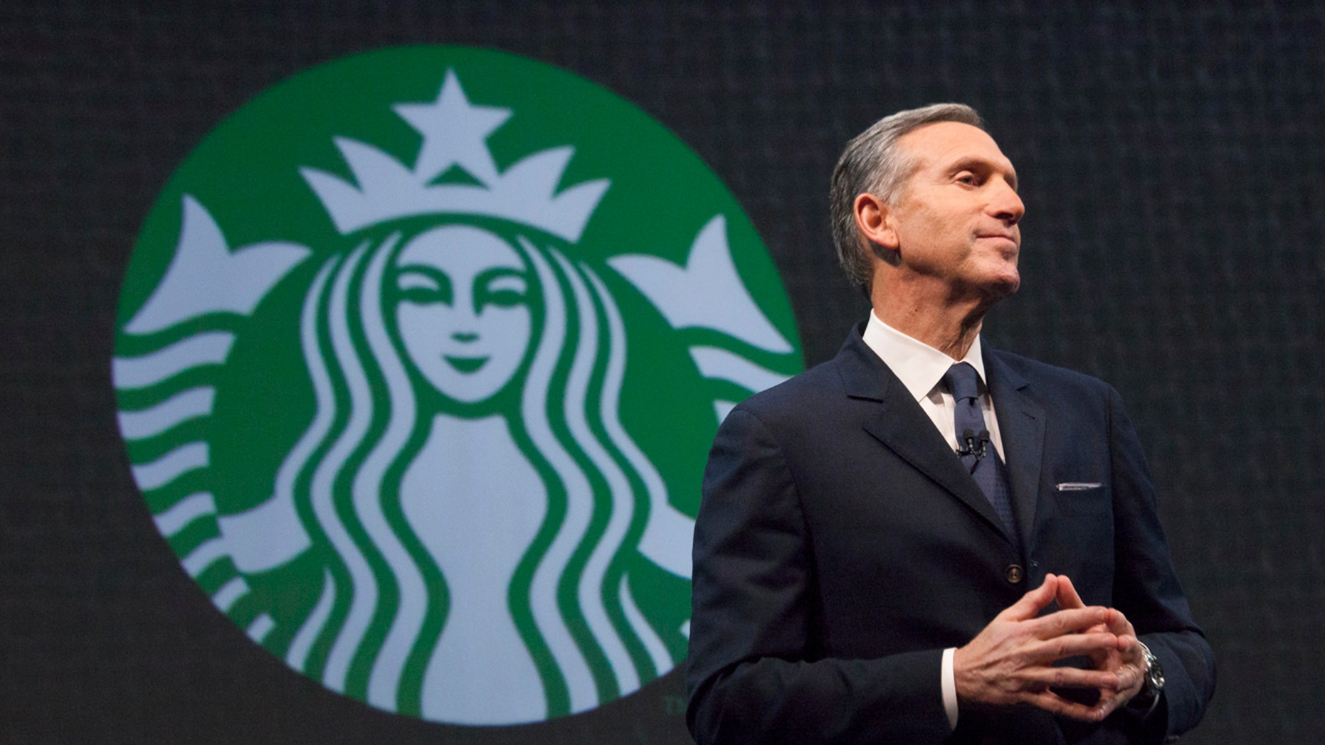 Starbucks Chief Executive Howard Schultz speaks during the company's annual shareholder's meeting in Seattle, Washington March 18, 2015.