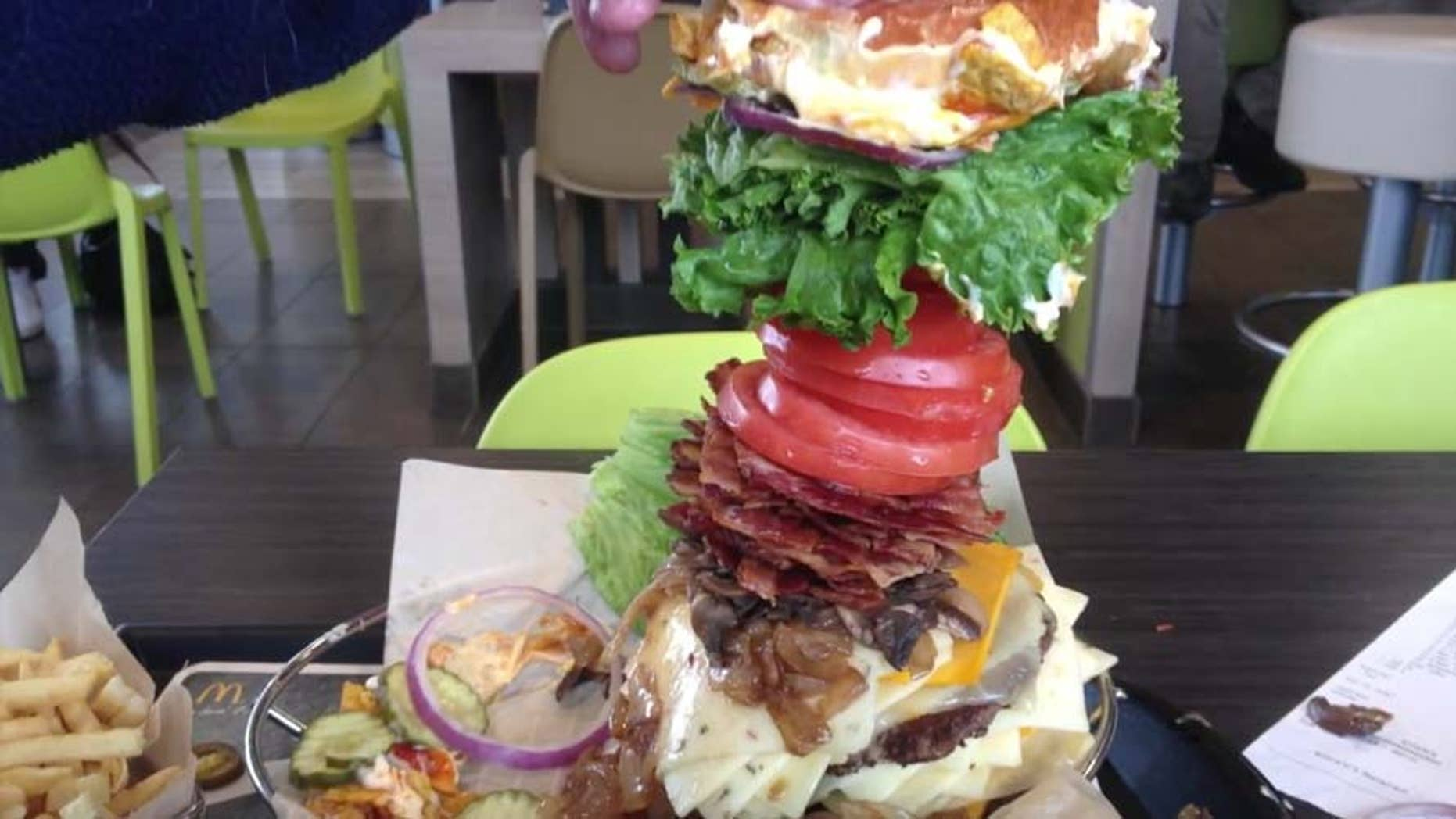 The Big Max burger towers above the competition.