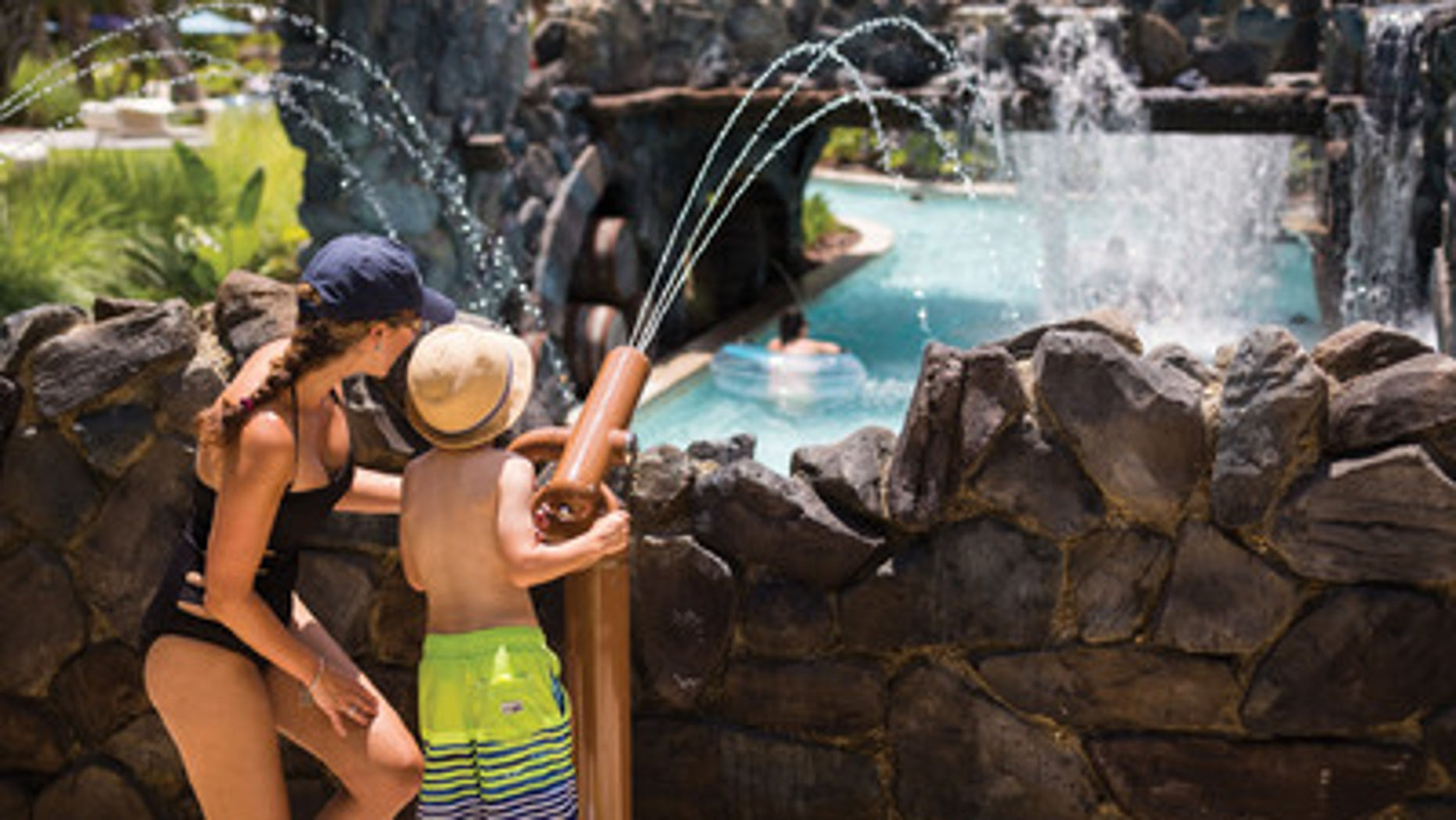 The pool area at the Four Seasons Orlando at Walt Disney World has plenty of activities for active kids.