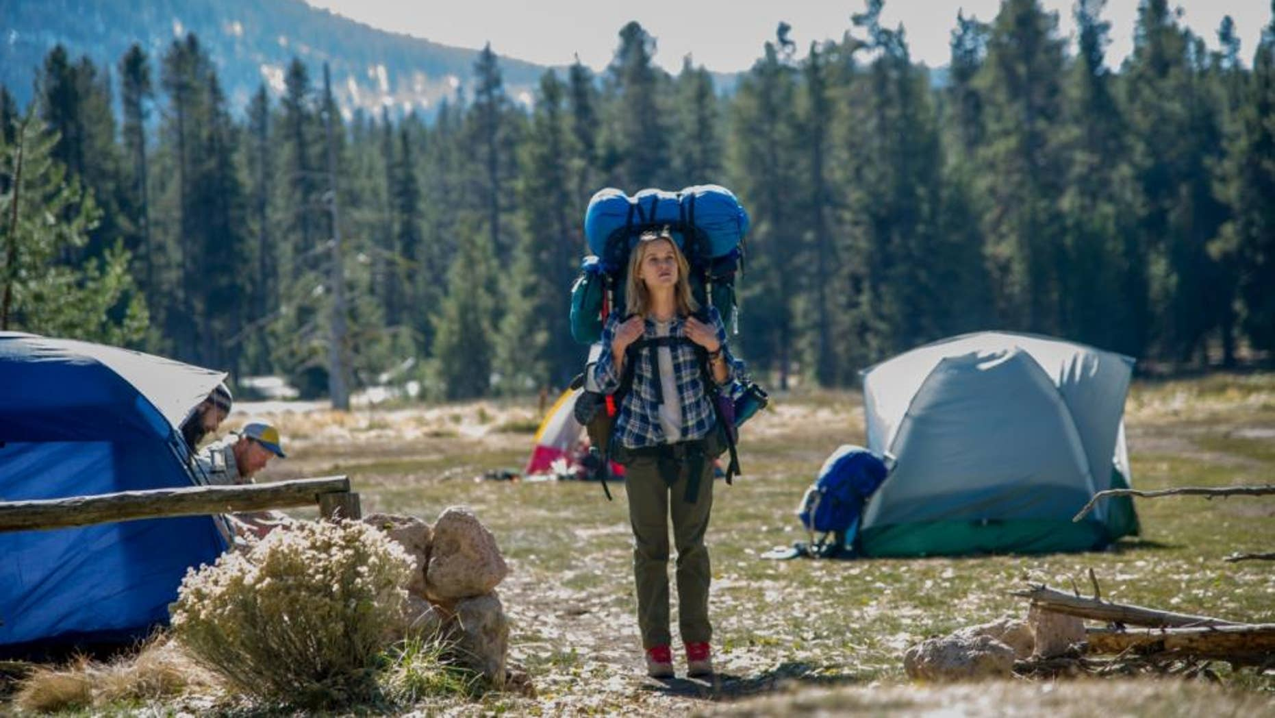 "This image released by Fox Searchlight Pictures shows Reese Witherspoon in a scene from the film, ""Wild."" The movie ""Wild,"" which is based on the book by author, Cheryl Strayed, has received Oscar nominations for best actress for Witherspoon and best supporting actress, for Laura Dern."