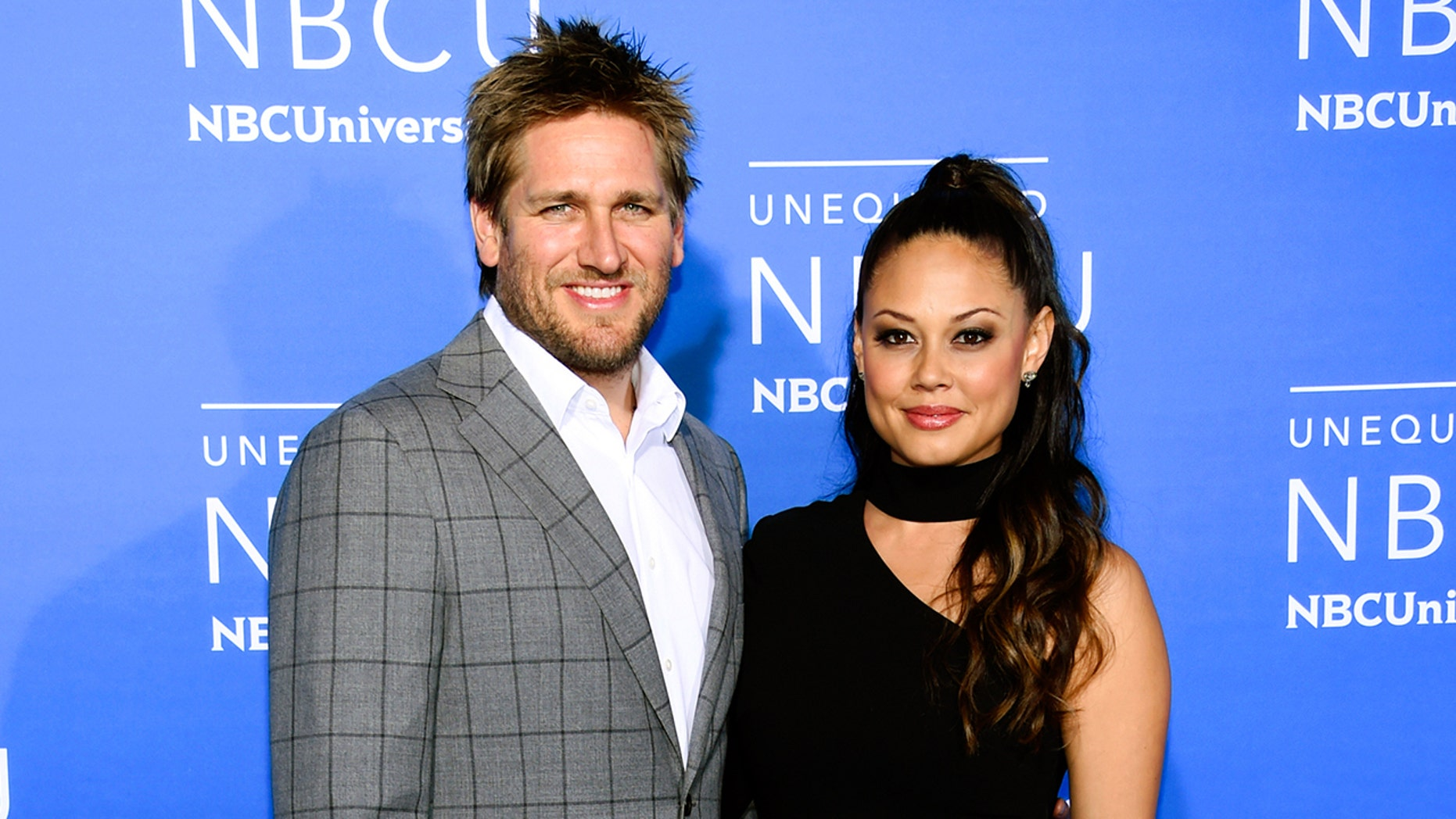 """Top Chef Juniors"" co-hosts Curtis Stone, left, and Vanessa Lachey attend the NBCUniversal Network 2017 Upfront at Radio City Music Hall on Monday, May 15, 2017, in New York."