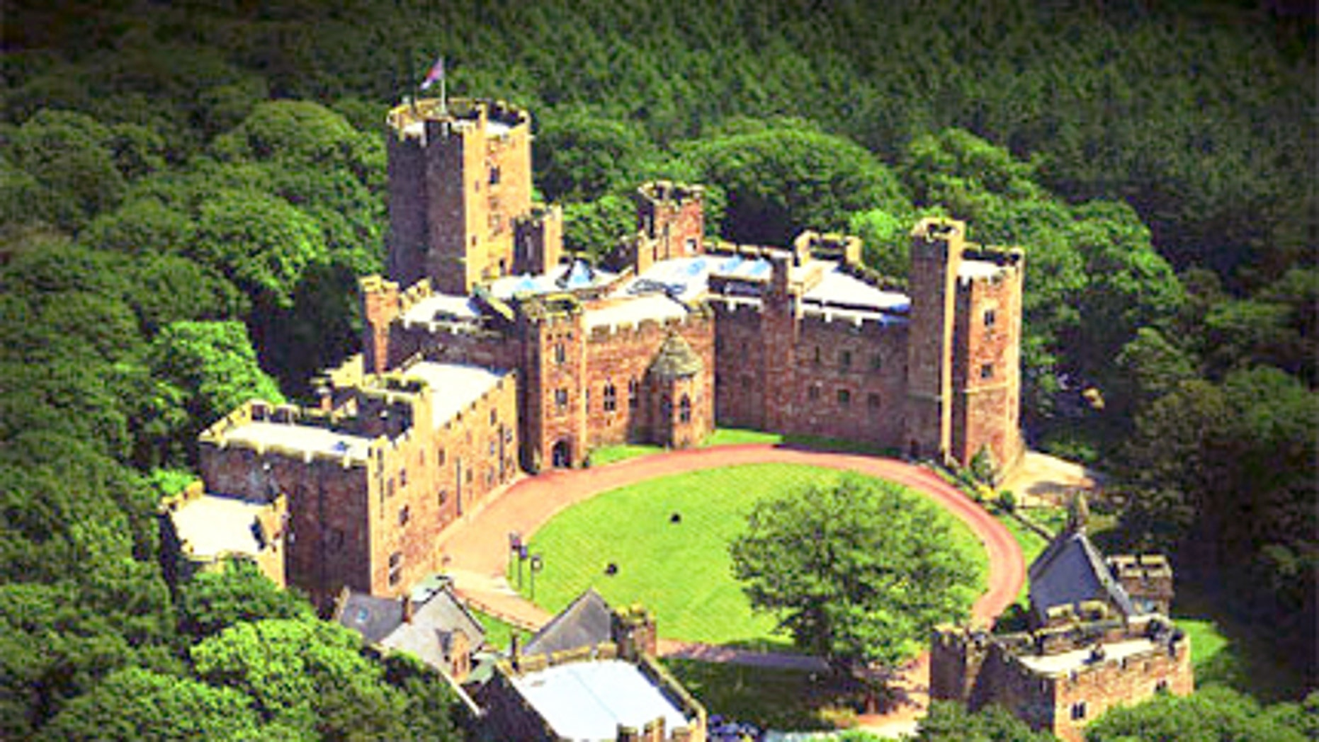 Peckforton Castle is a manor house built in the style of a medieval castle.