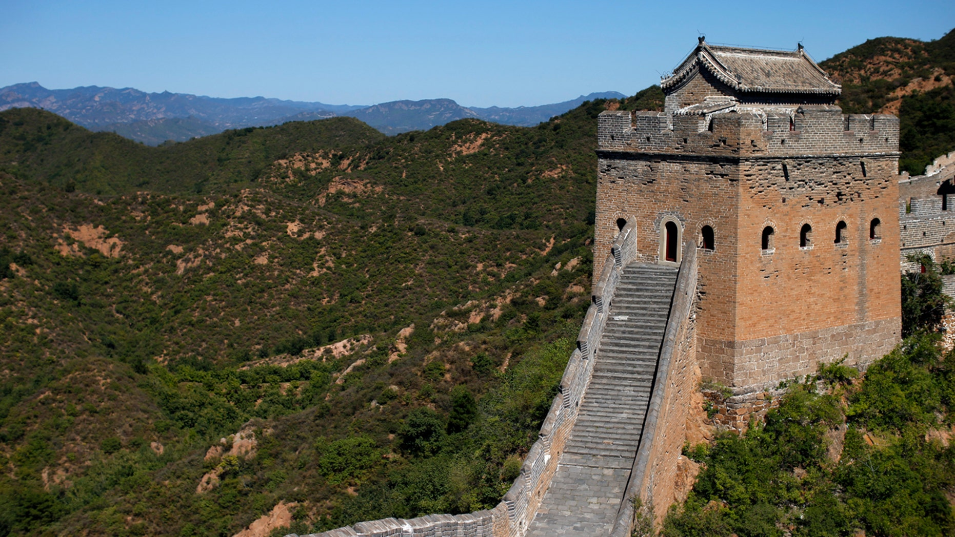 Visitors can climb the Great Wall but it's not devised to carve your name into the ancient stone.