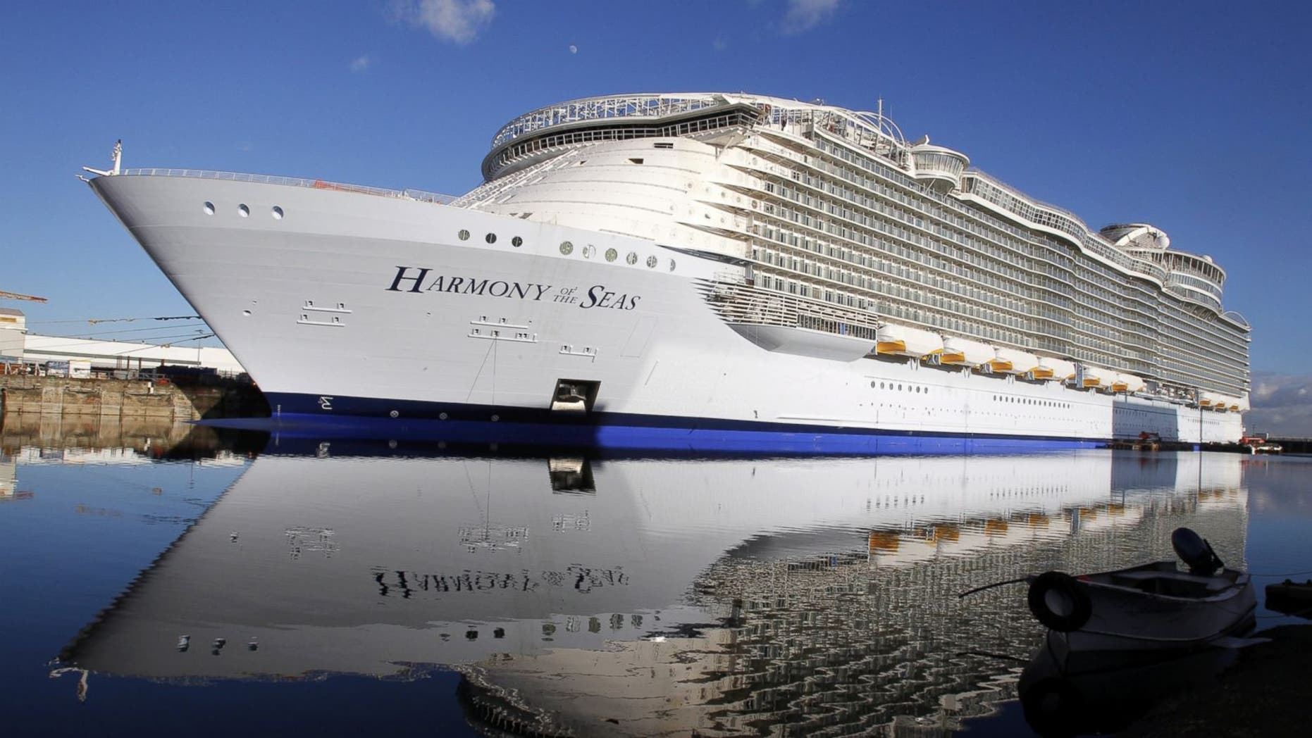 The Harmony of the Seas is the world's largest cruise ship.
