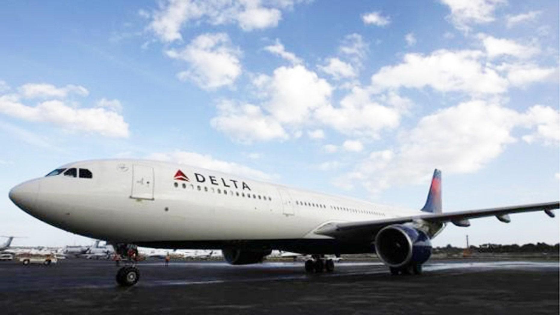 Delta airplane.