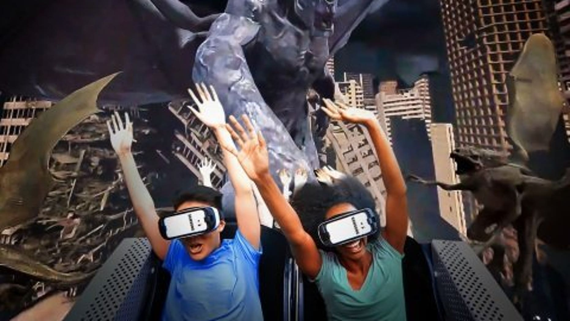 """""""Rage of the Gargoyles"""" is set become the world's first interactive gaming coaster."""