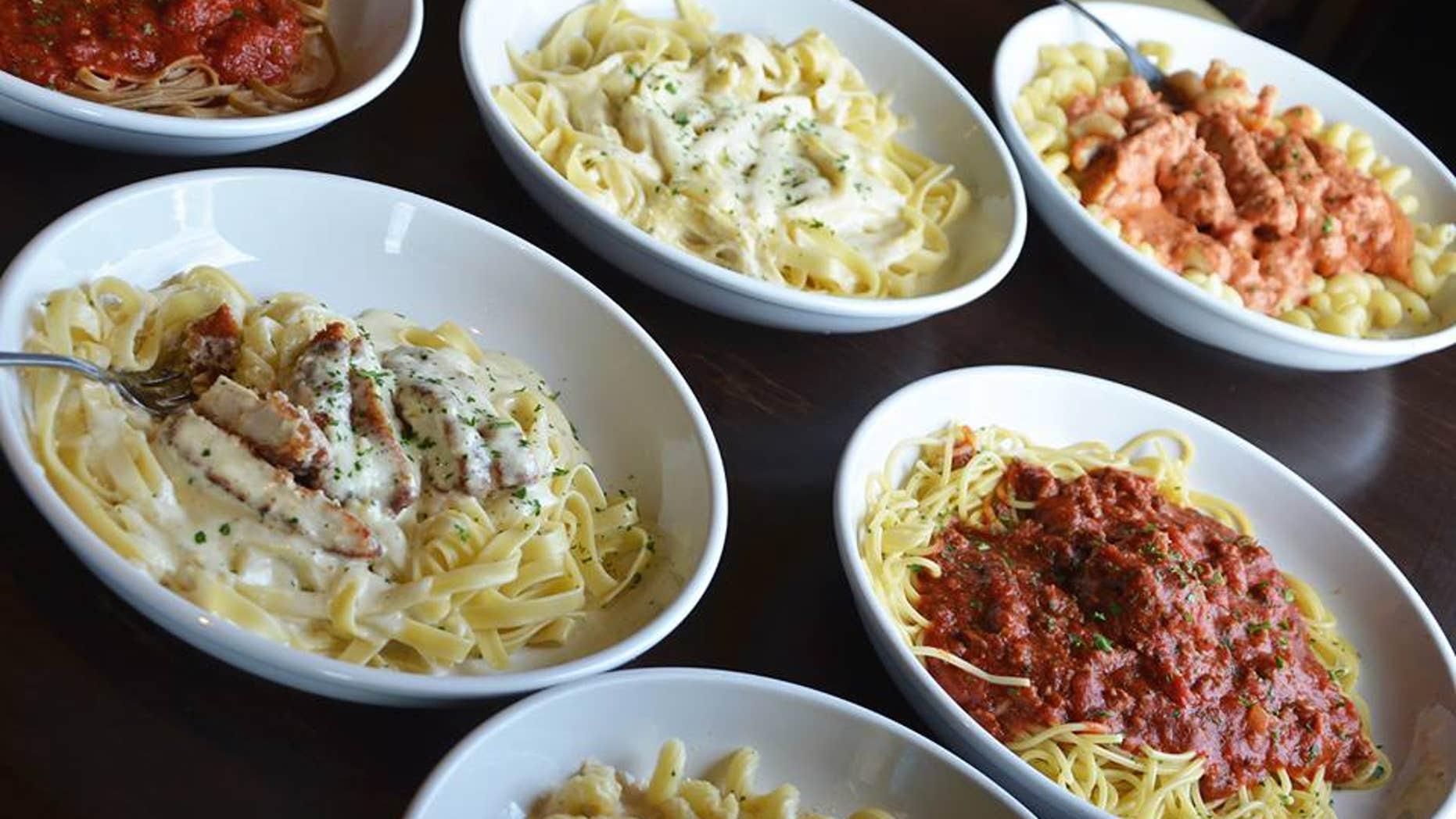 Overloaded pasta menus may be hurting Italian chain sales.