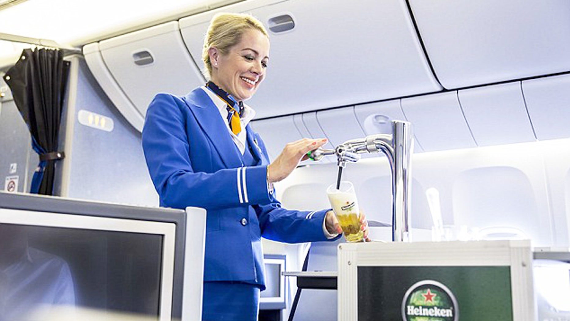 Dutch airline KLM is premiering the first ever in-flight beer draft system.