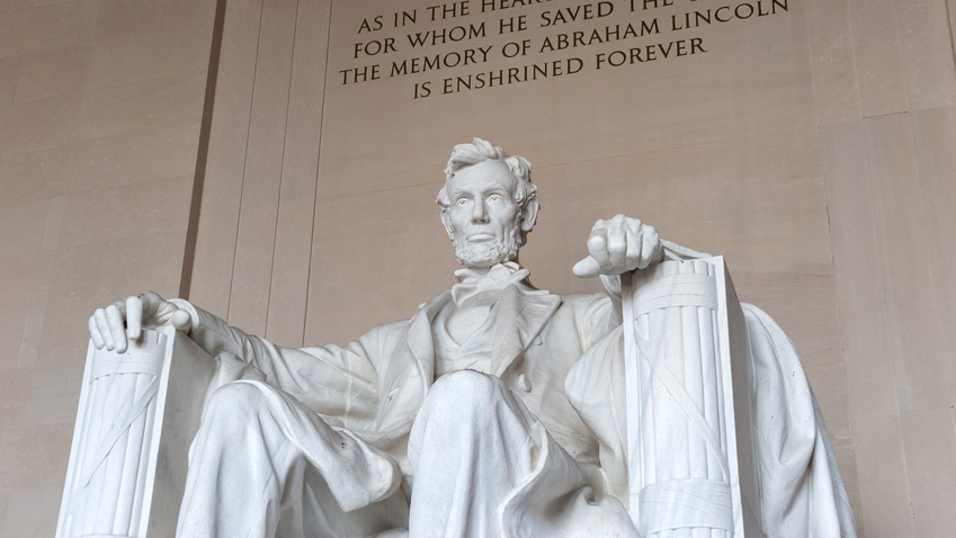 Abraham Lincoln Memorial in Washington DC, United States of America. National Landmark, famous tourist place