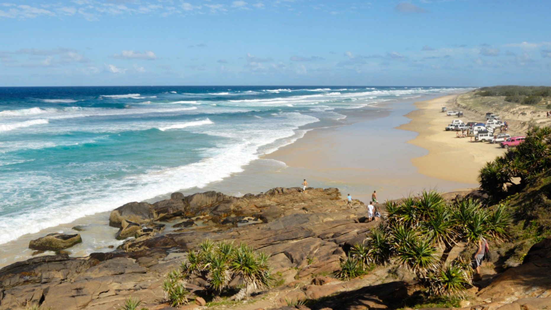 Fraser Island, Queensland Australia is known for its lush natural features and wildlife.
