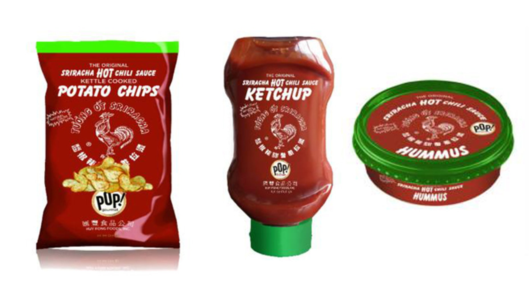 Potato chips, ketchup and hummus- oh my! All Sriracha, all the time.