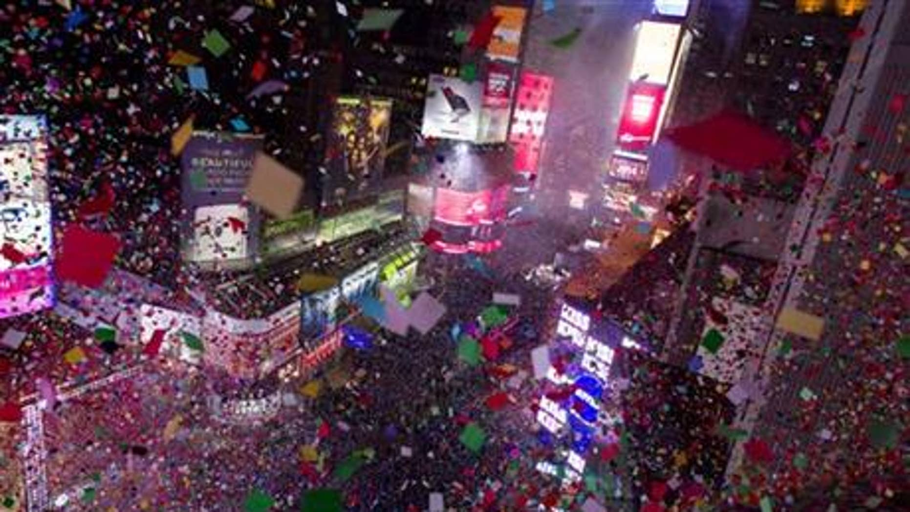 New Year's Eve in Times Square, New York City.