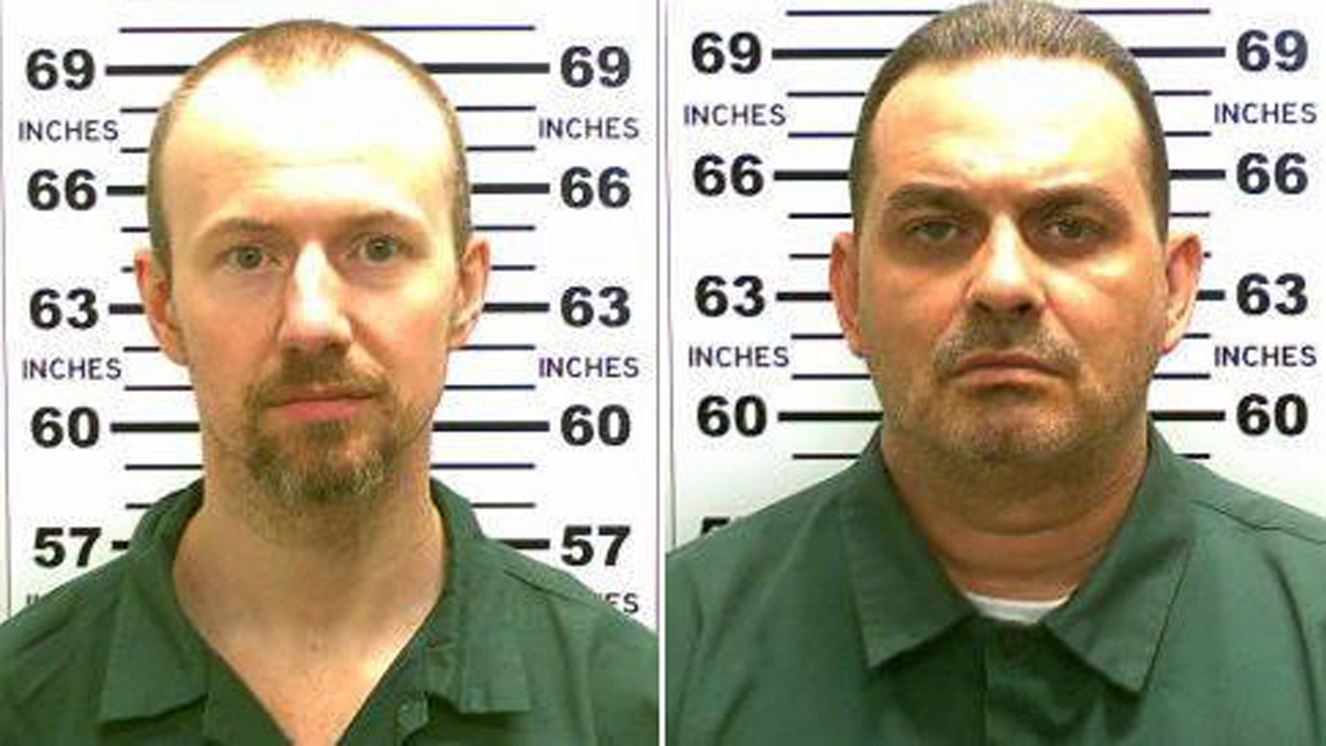 These images show David Sweat and Richard Matt, who escaped from the maximum-security Clinton Correctional Facility at Dannemora last year.